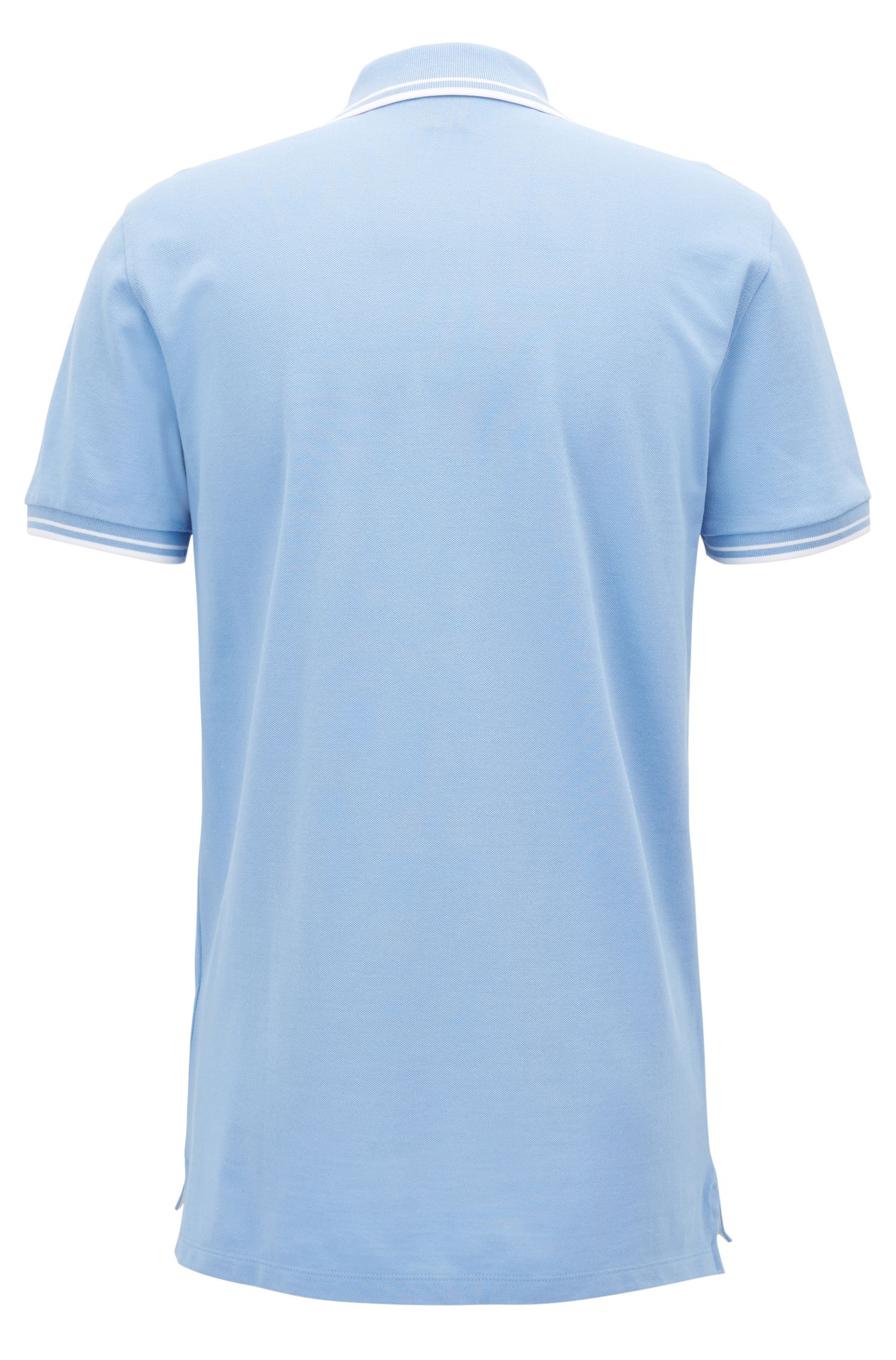 Regular-fit polo shirt in fine cotton piqué