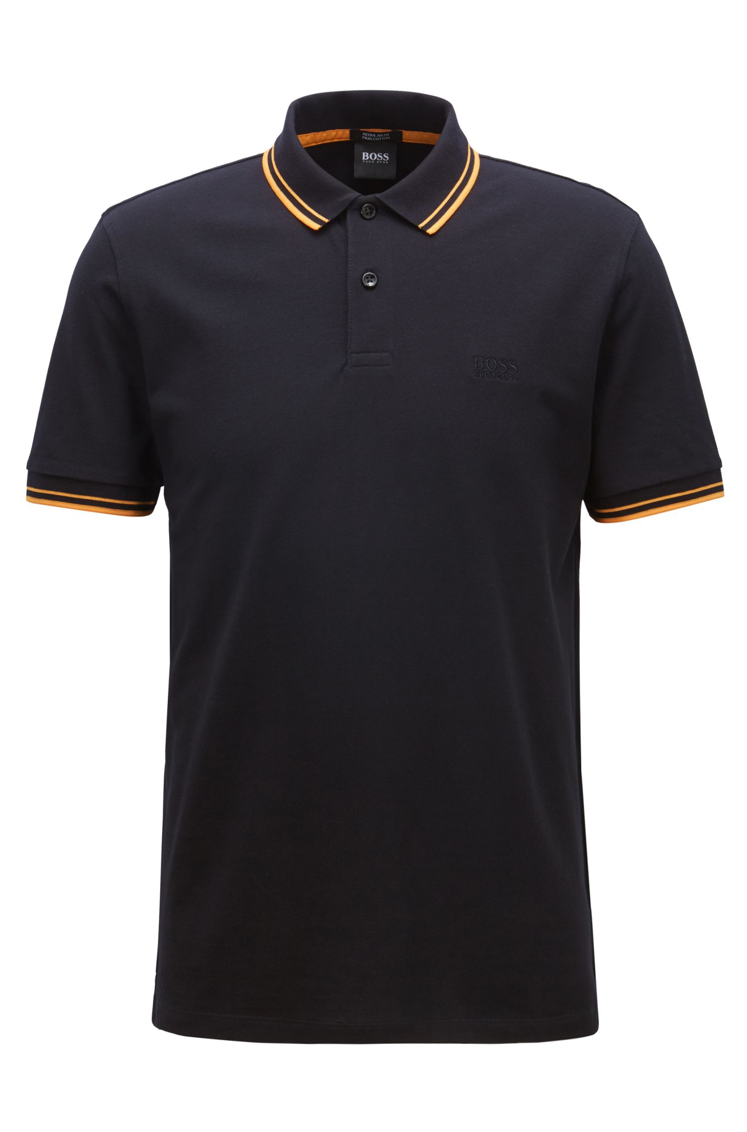 Regular-Fit Poloshirt aus feinem Baumwoll-Piqué, Hellblau