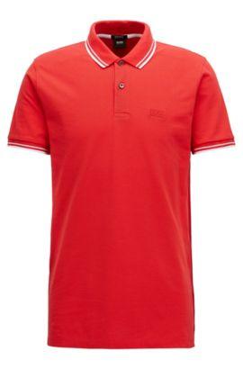 Regular-Fit Poloshirt aus feinem Baumwoll-Piqué, Rot