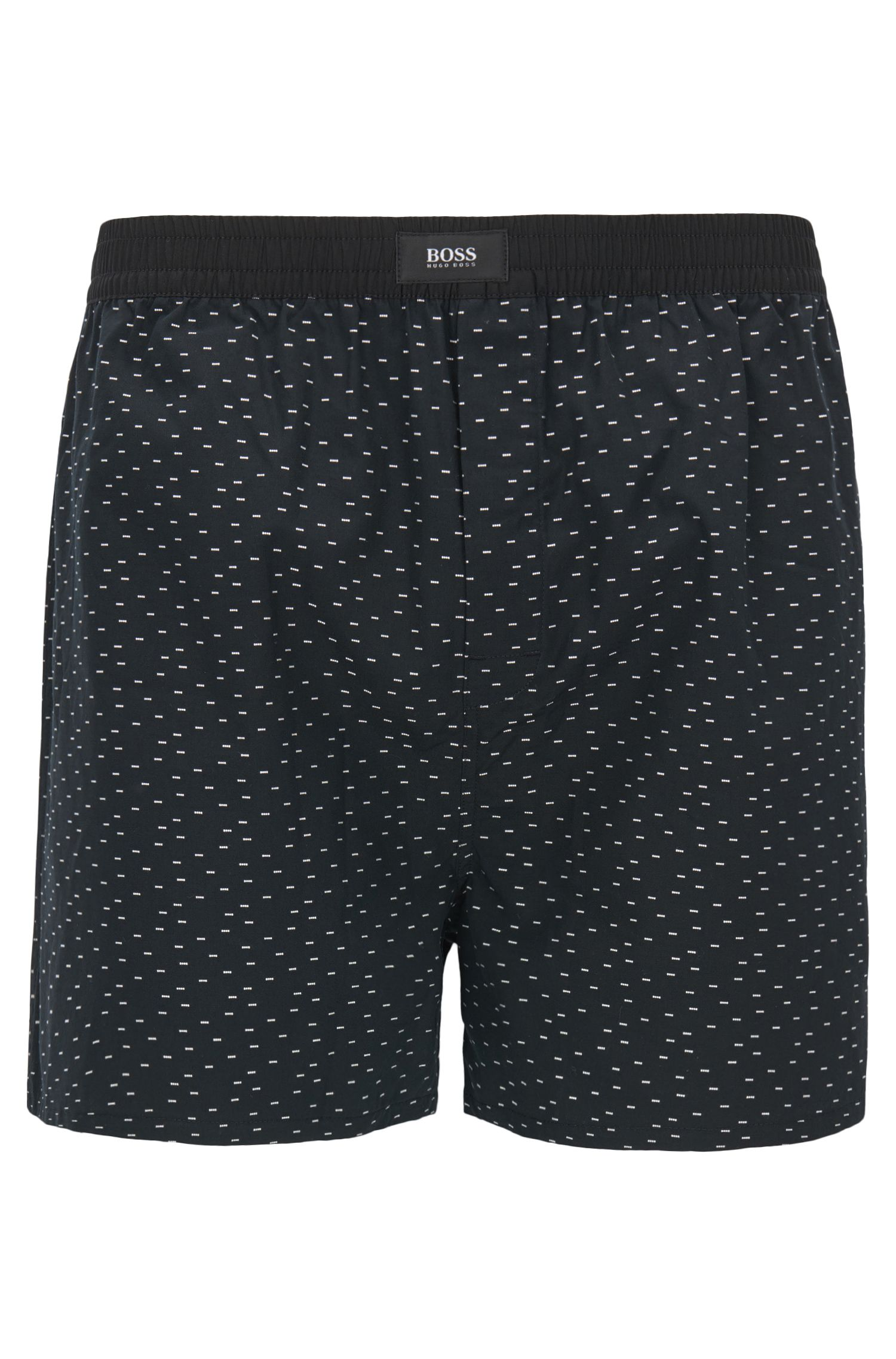 Cotton pyjama shorts with fil coupé pattern