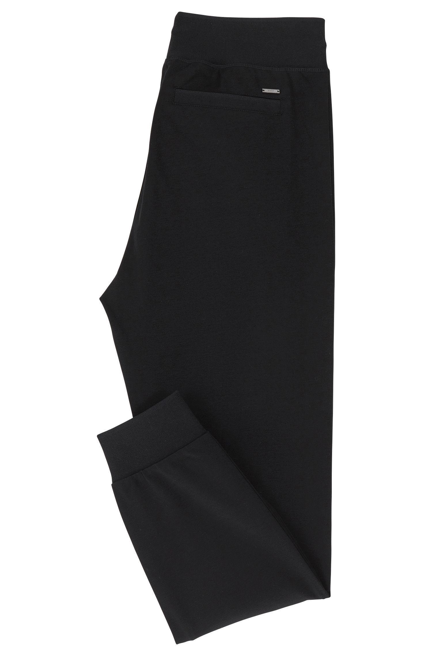 Slim-Fit Hose aus merzerisierter Baumwolle mit Bündchen