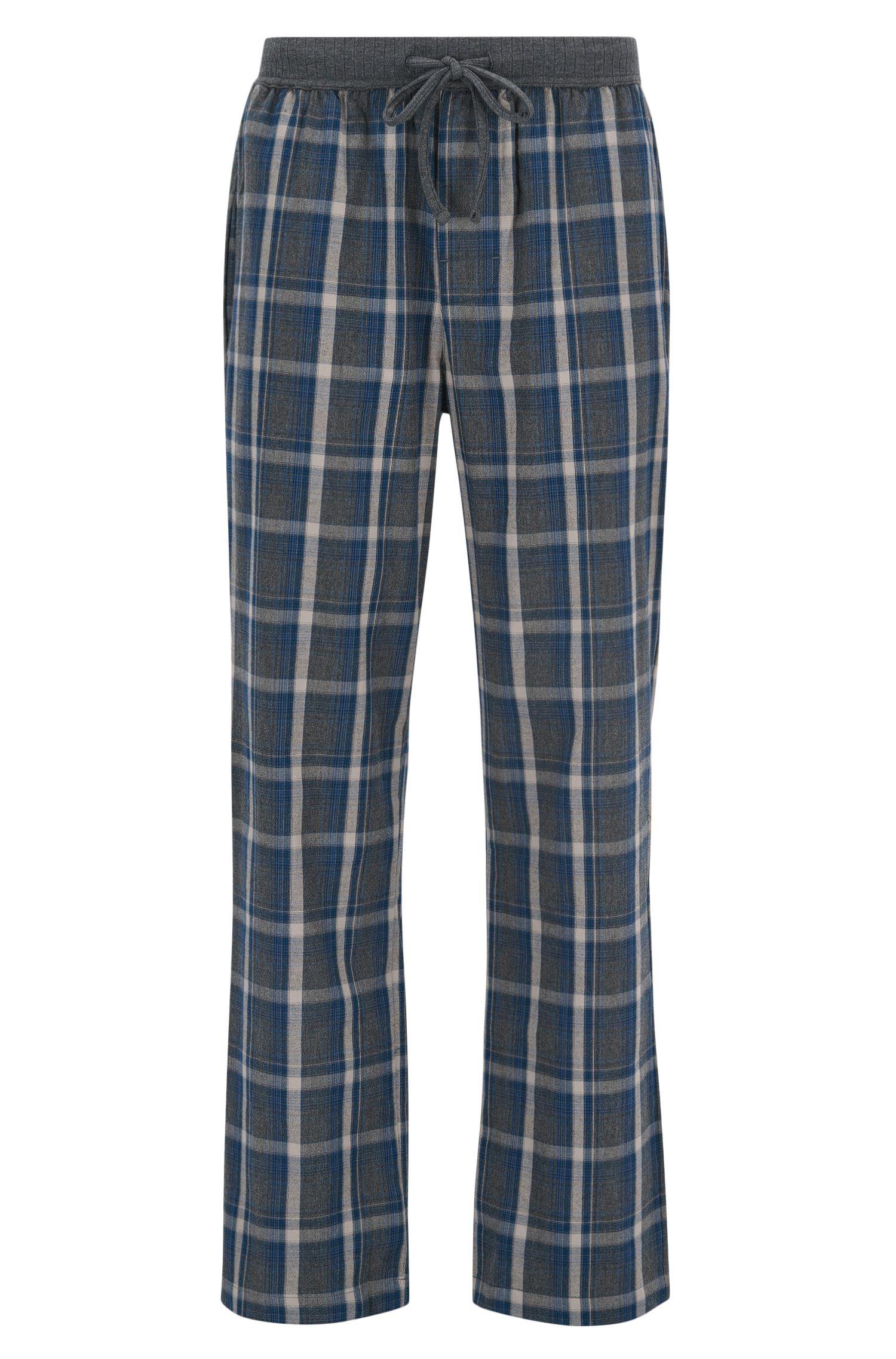 Pyjamabroek van geruite katoen