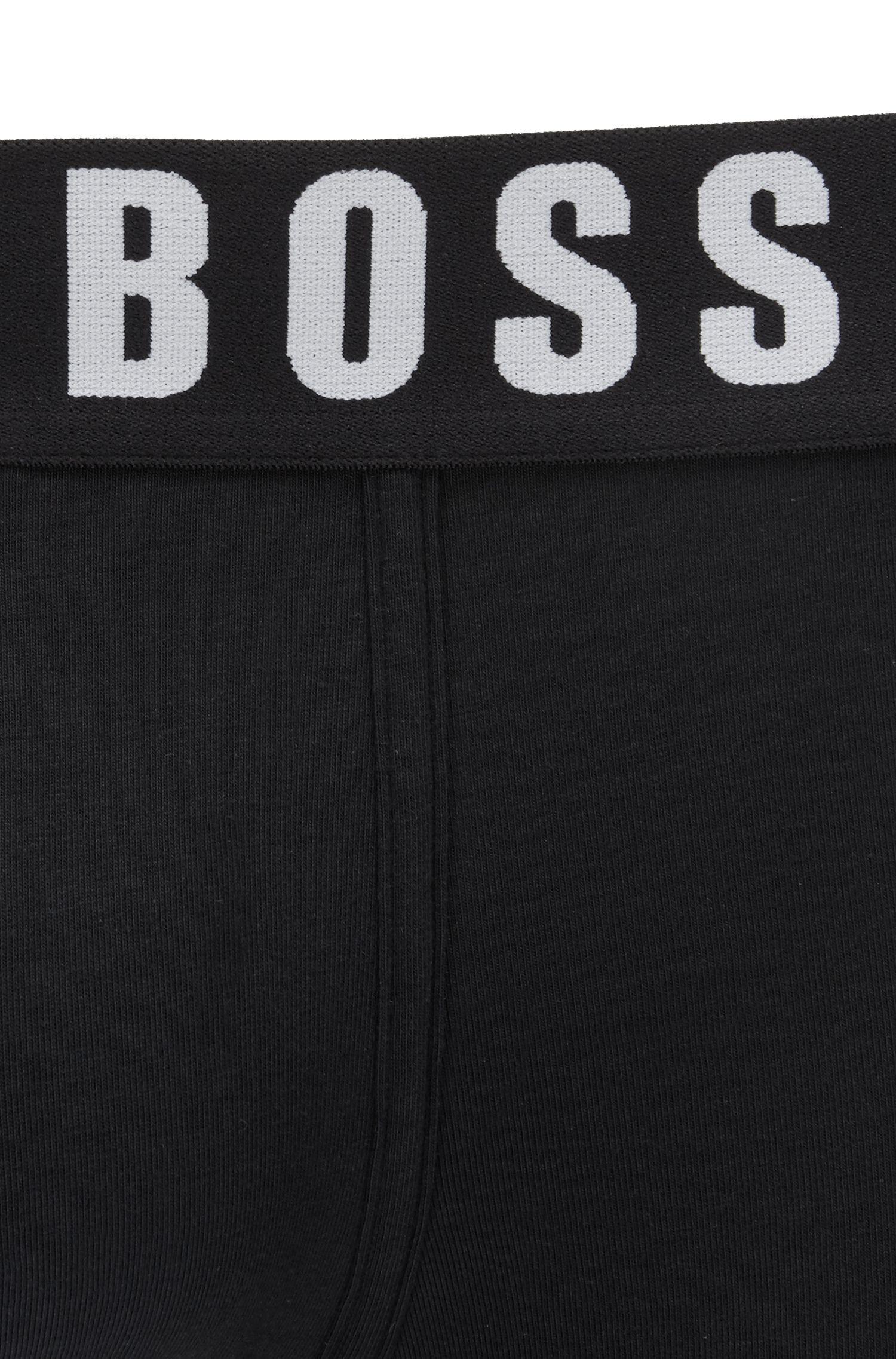 Boxershort van singlejersey met tailleband met logo