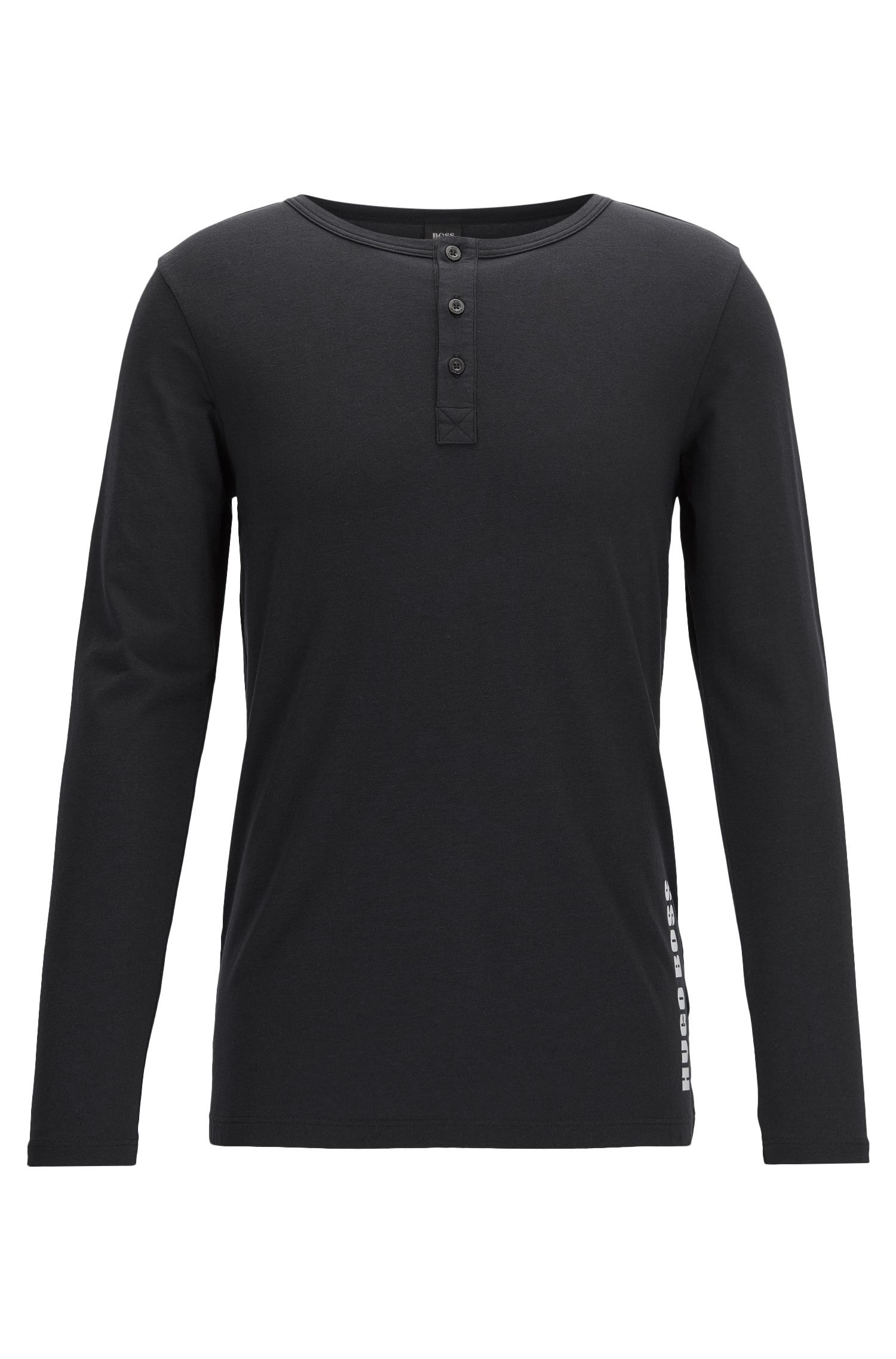 Long-sleeved underwear T-shirt in single jersey