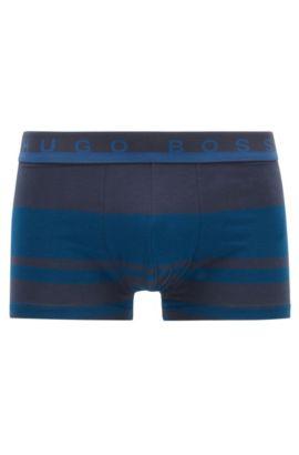 Gestreepte boxerslip van stretchkatoenjersey, Blauw