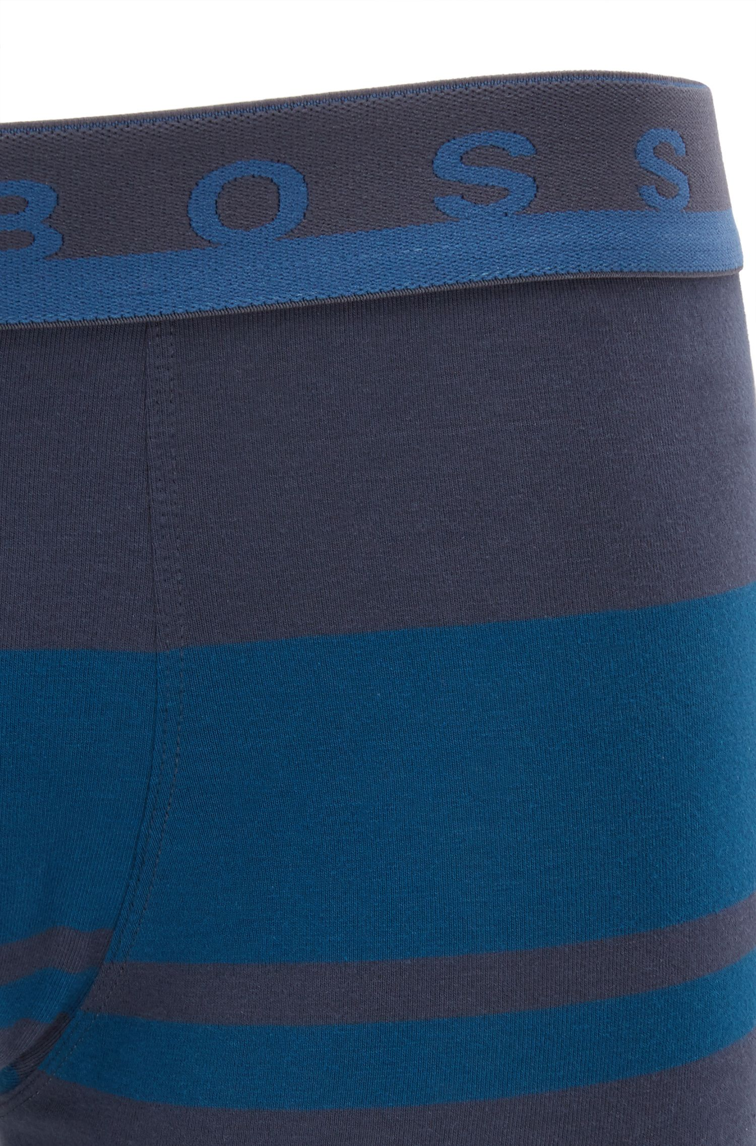 Striped boxer briefs in stretch cotton jersey