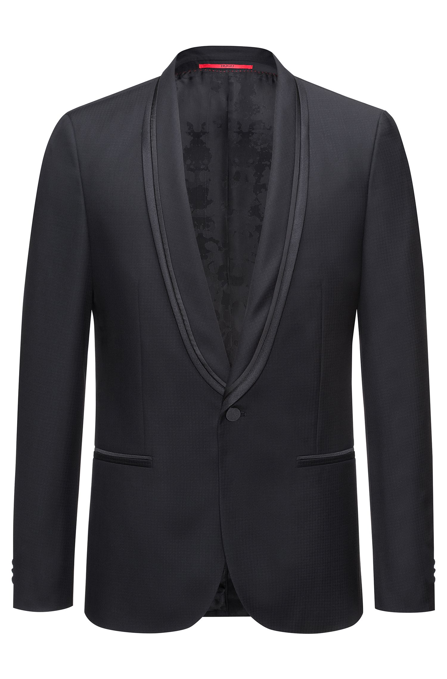 Extra-slim-fit jacket in a wool blend
