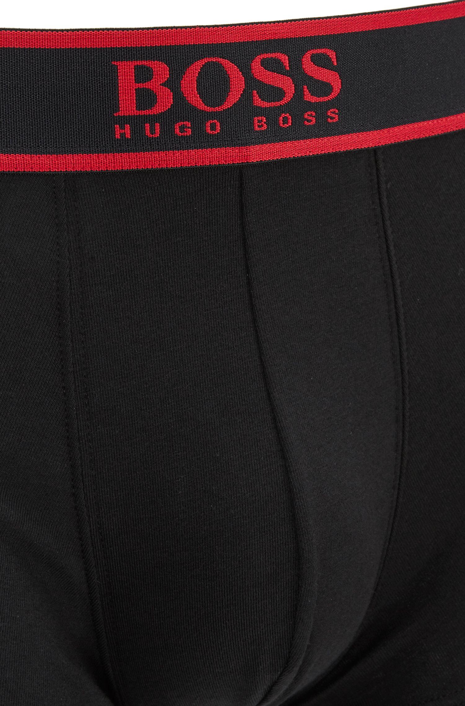 Calzoncillos bóxer cortos en algodón elástico con logo en la cintura
