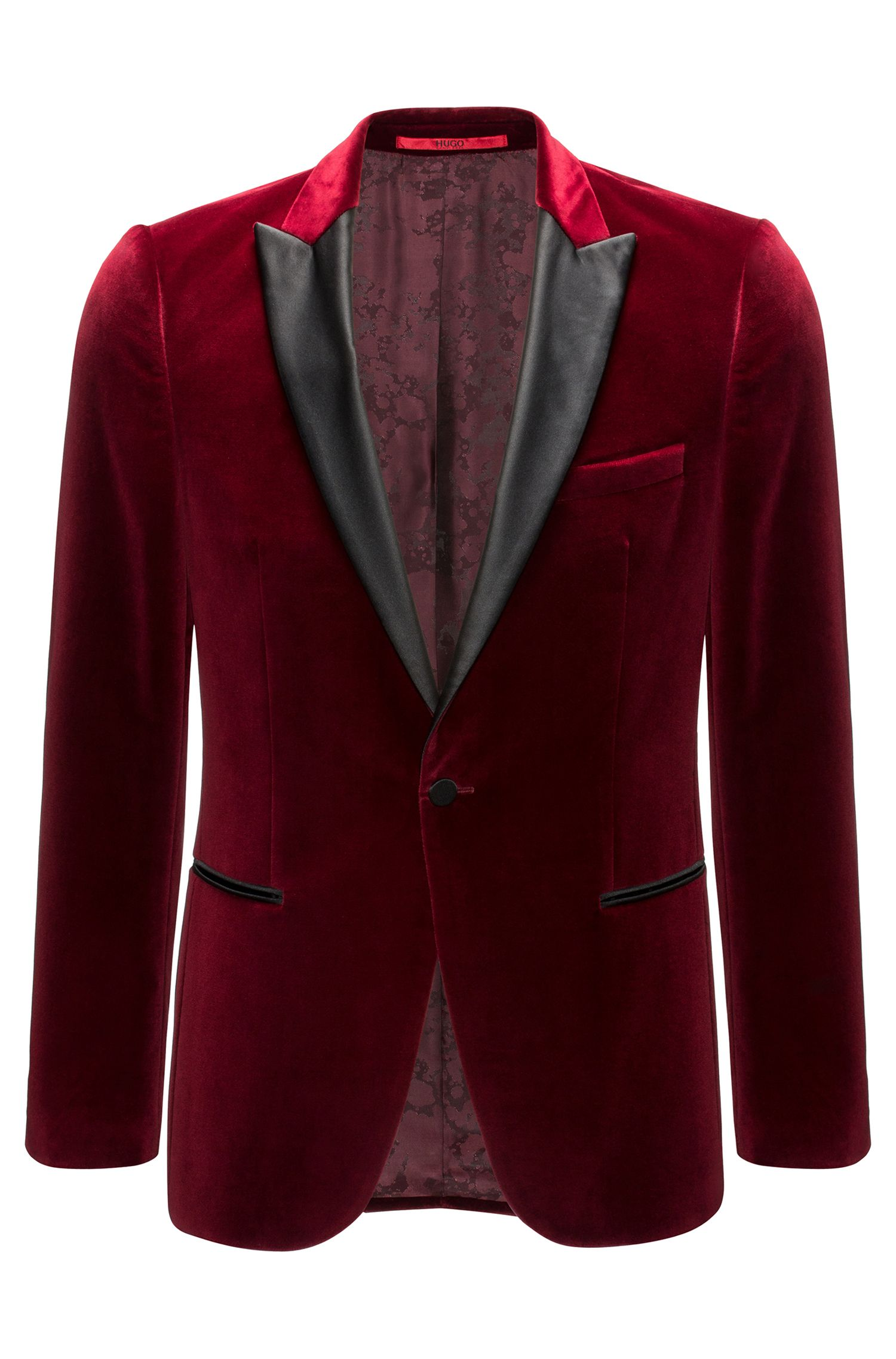 Veste Slim Fit en doux velours
