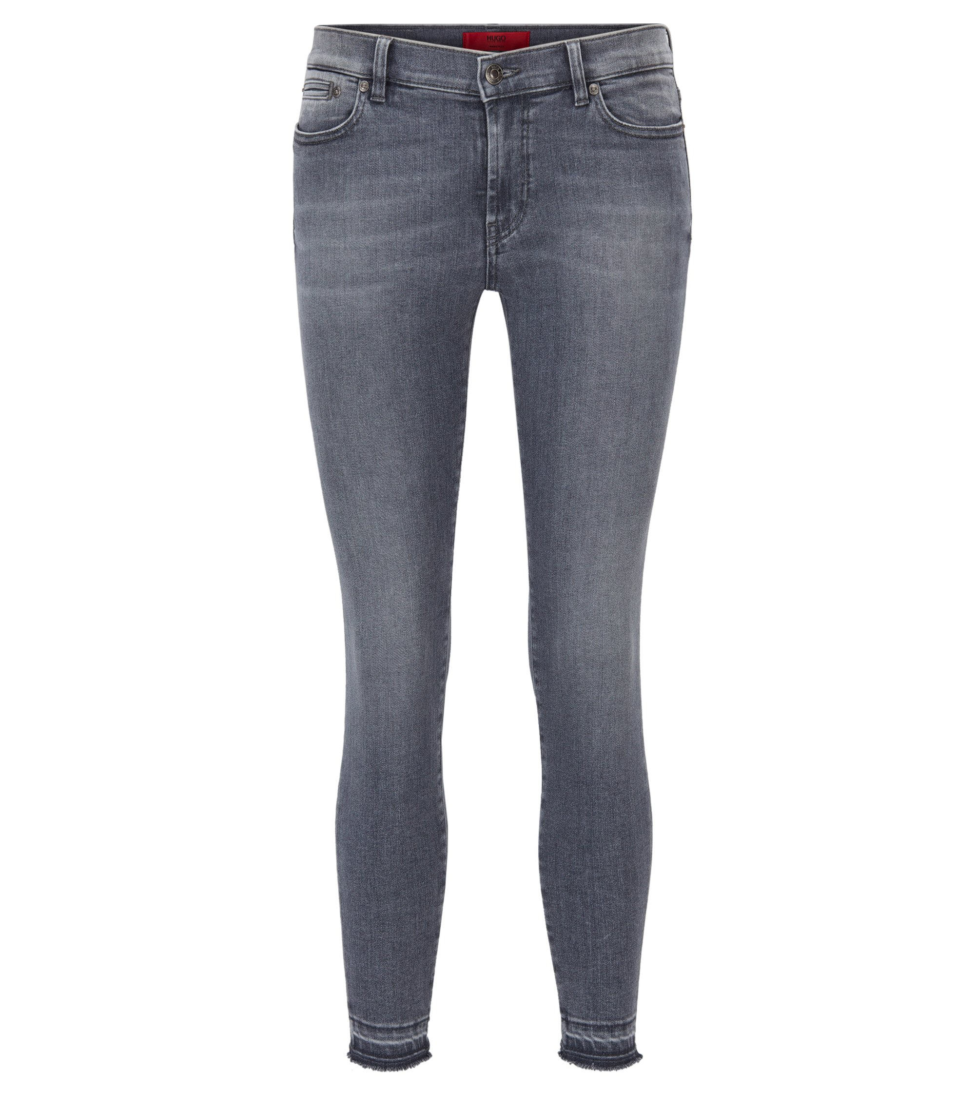 Jeans Skinny Fit en denim super stretch, Gris sombre