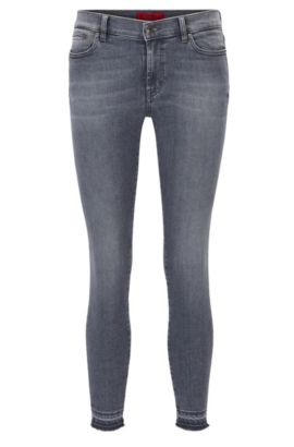 Jeans skinny fit in denim super elasticizzato, Grigio scuro