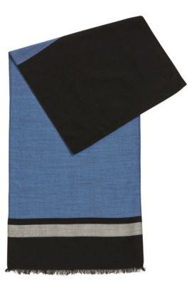 Écharpe légère en fine laine vierge mélangée, Noir