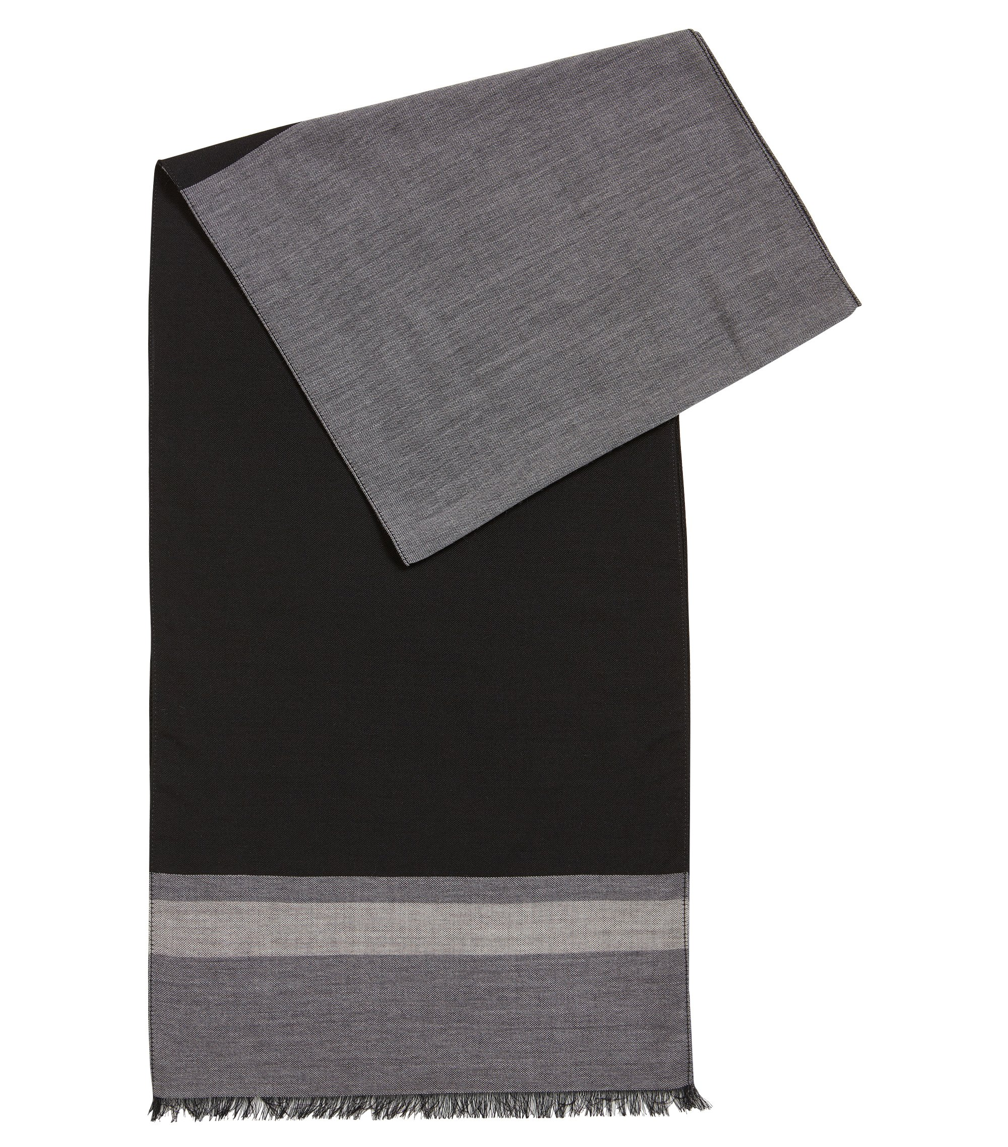 Lightweight scarf in a fine virgin-wool blend, Grey