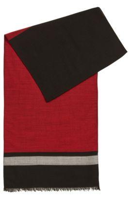 Lichte sjaal van een fijne scheerwolmix, Rood