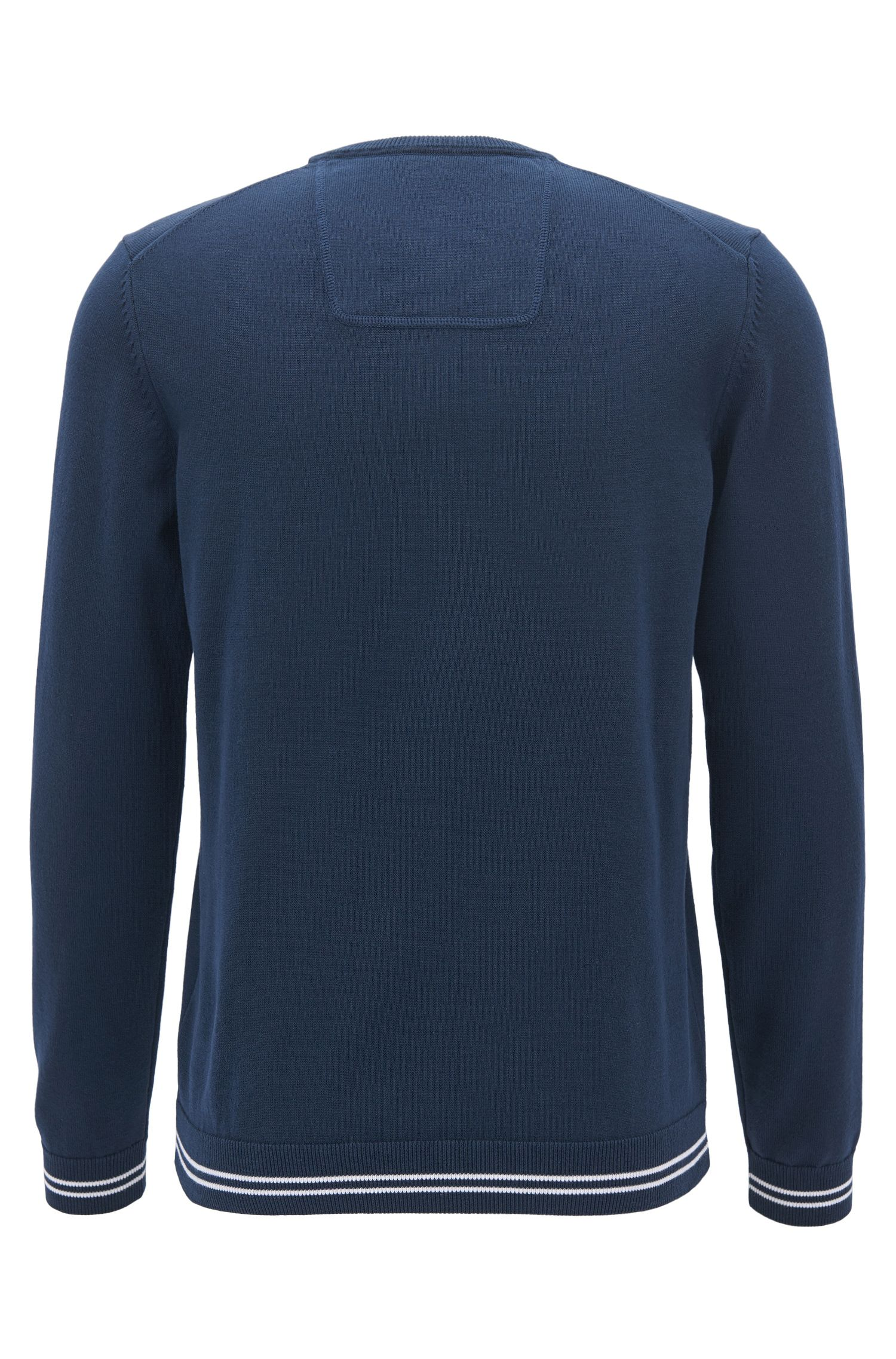 Crew-neck sweater in a cotton blend