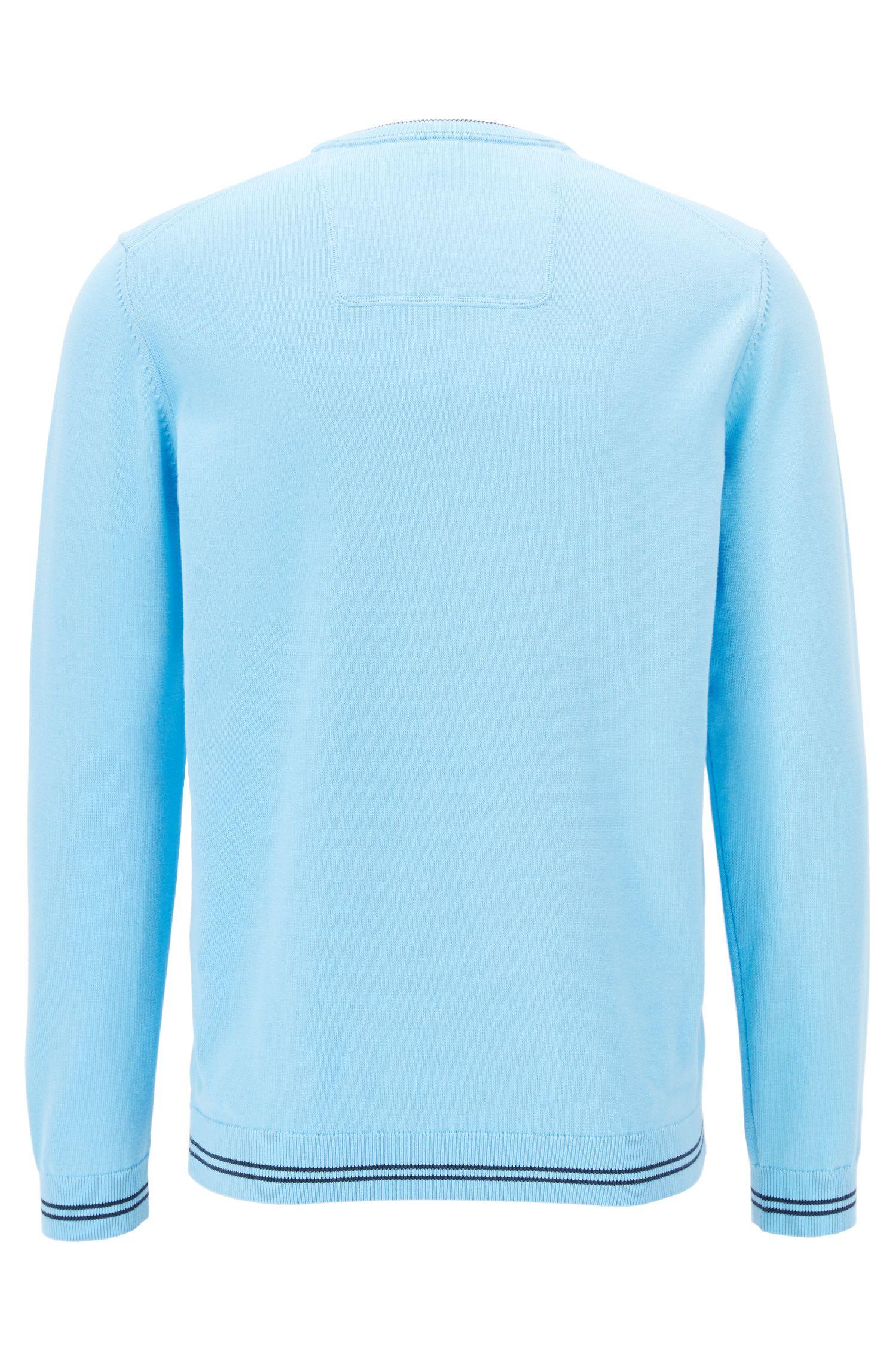 Jersey de cuello redondo en mezcla de algodón