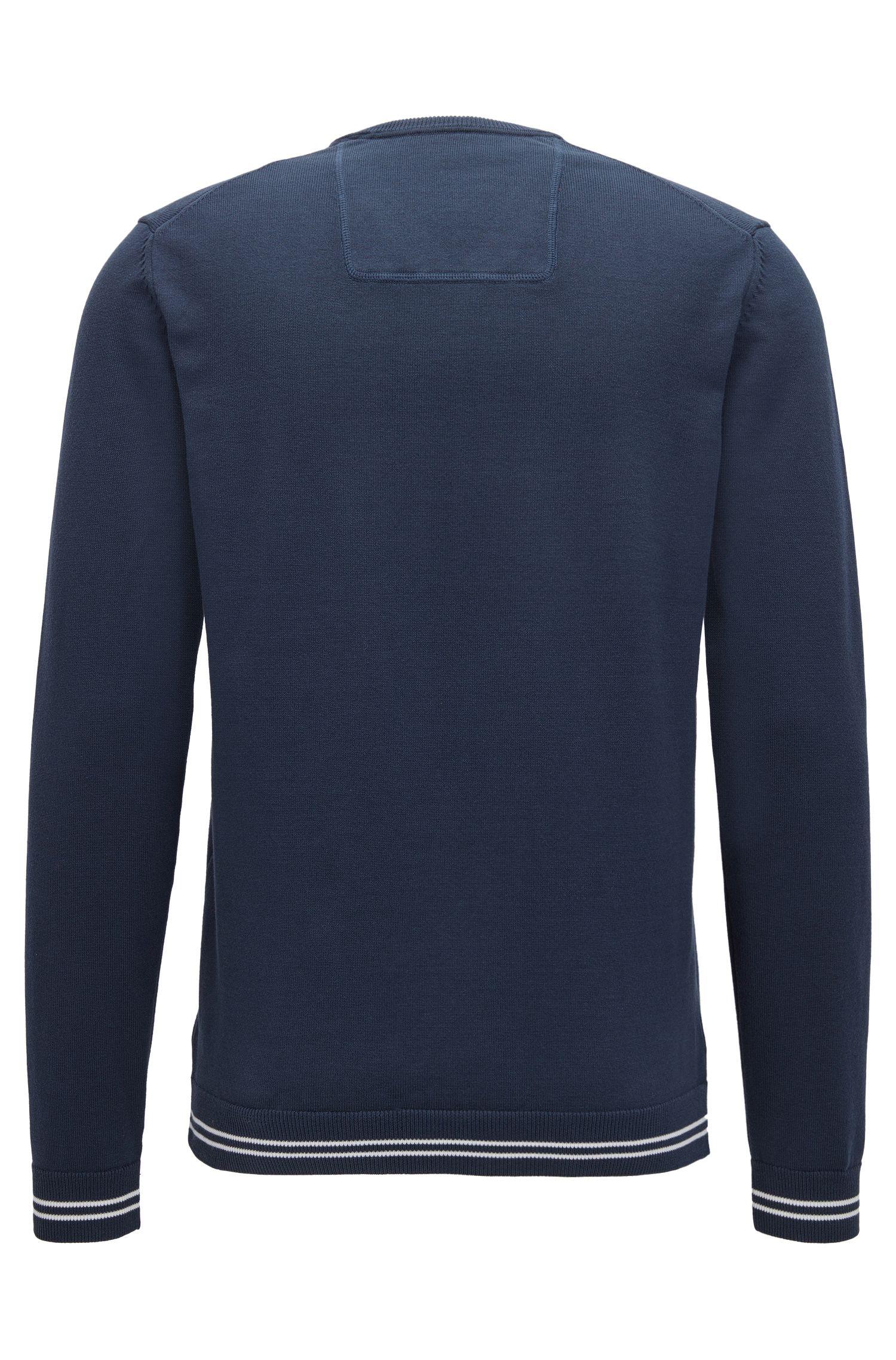 Pullover aus Baumwoll-Mix mit V-Ausschnitt