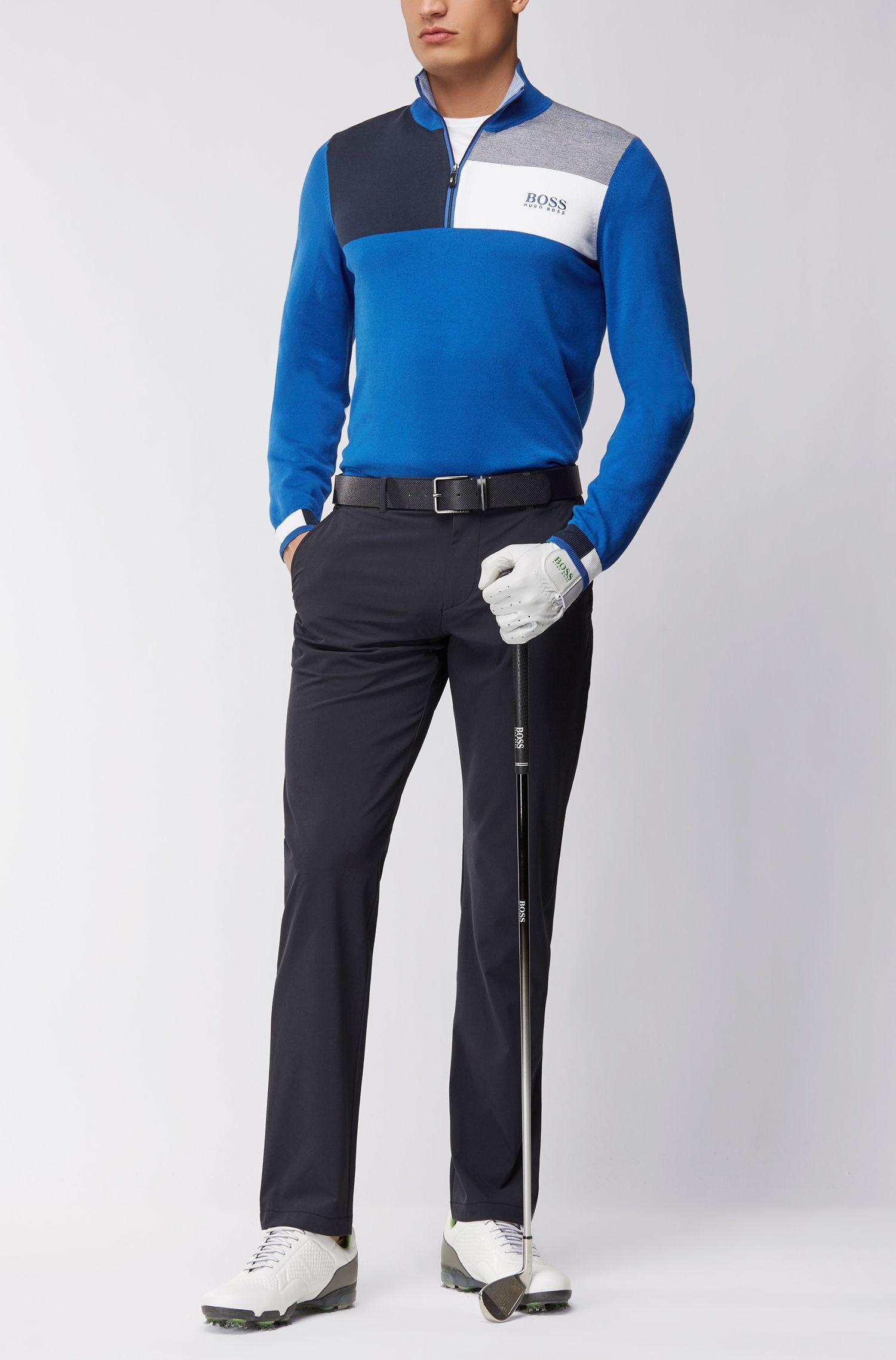 Pullover aus Baumwoll-Mix mit Troyer-Kragen aus der Professional Golf Collection