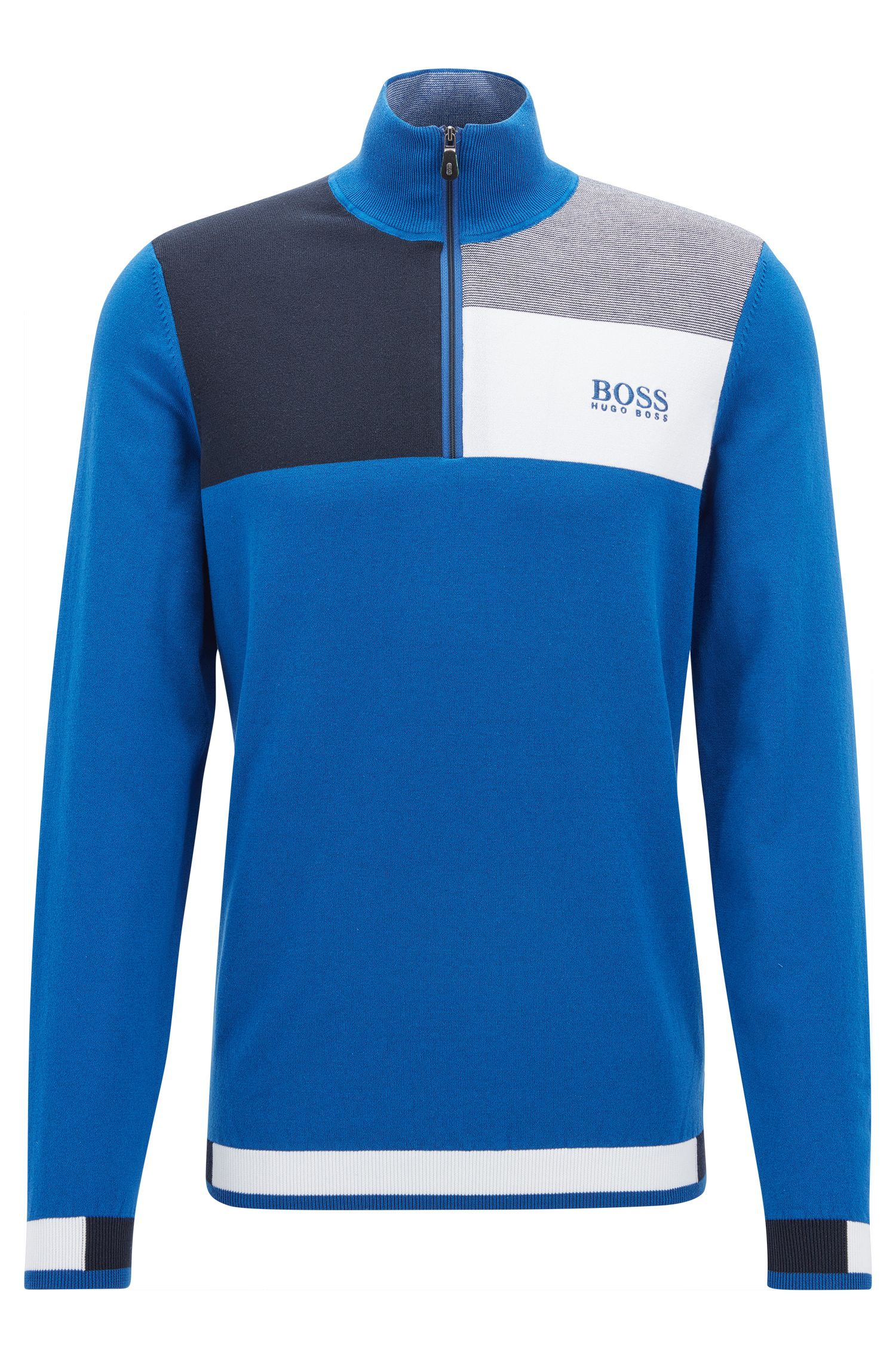 Professional Golf Collection water-repellent sweater with zip neck