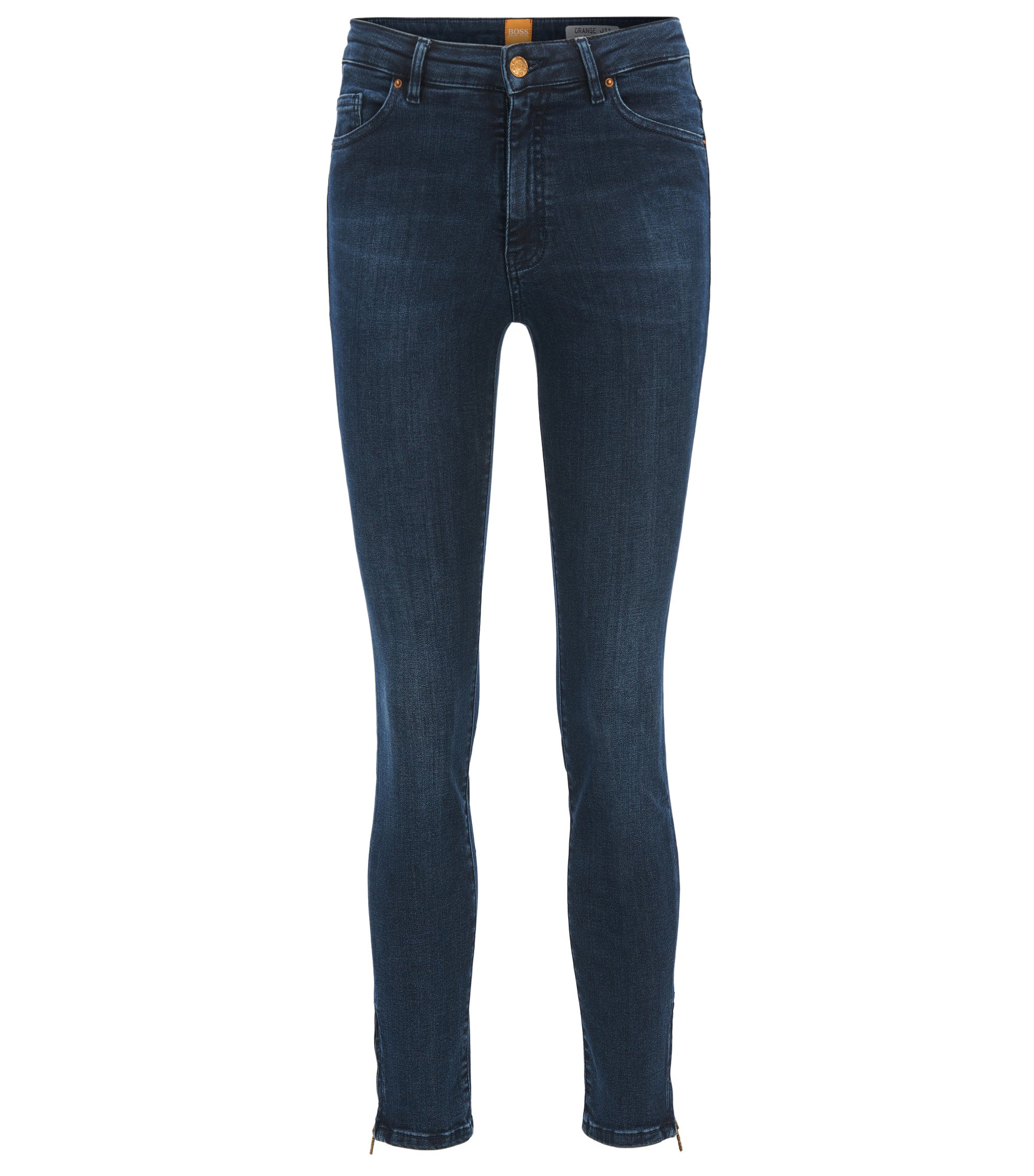 Jeans skinny fit in denim super elasticizzato, Blu scuro