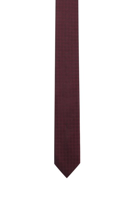 Micro-checked tie in pure silk HUGO BOSS zybnz16DF