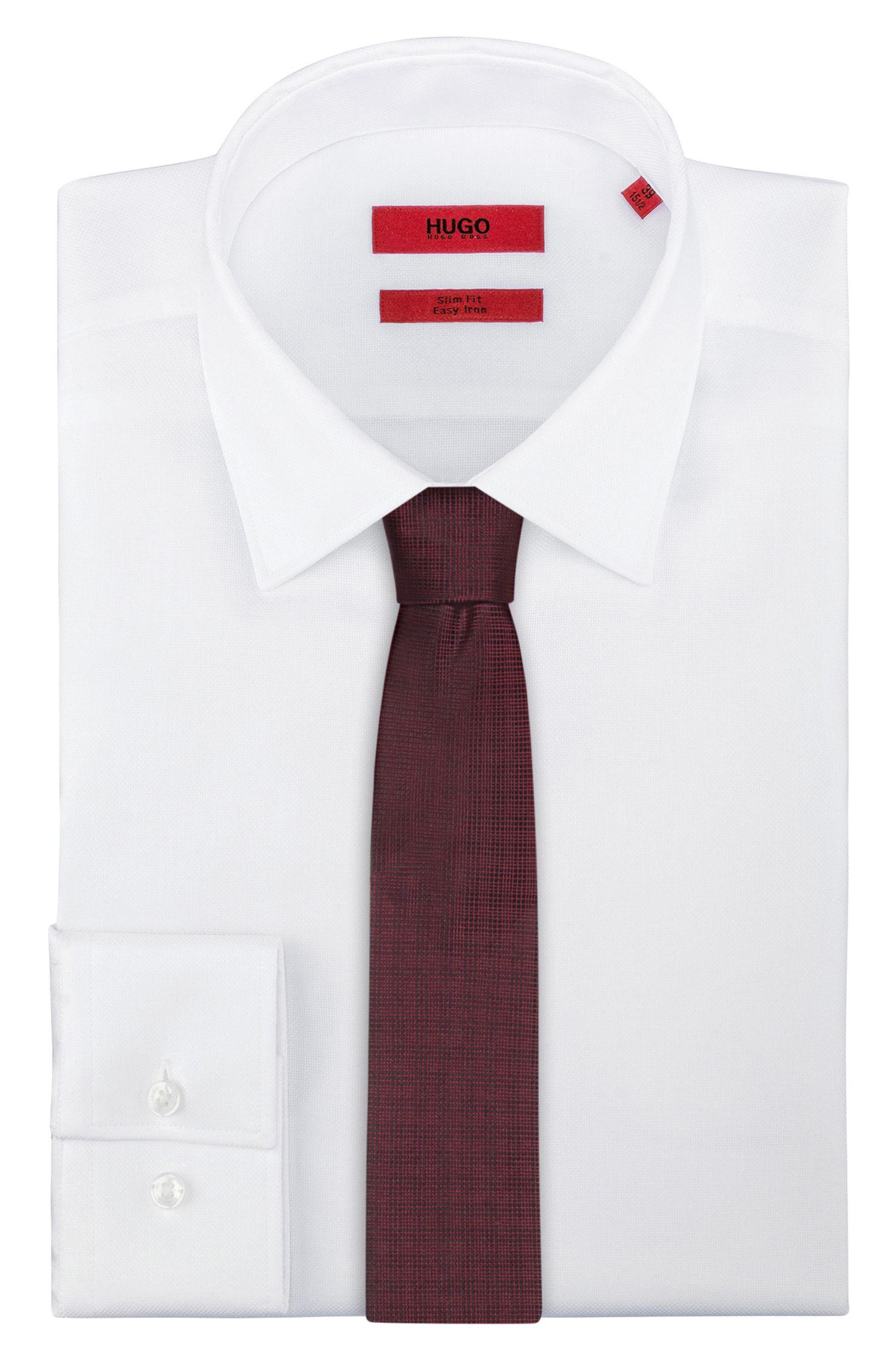 Micro-checked tie in pure silk