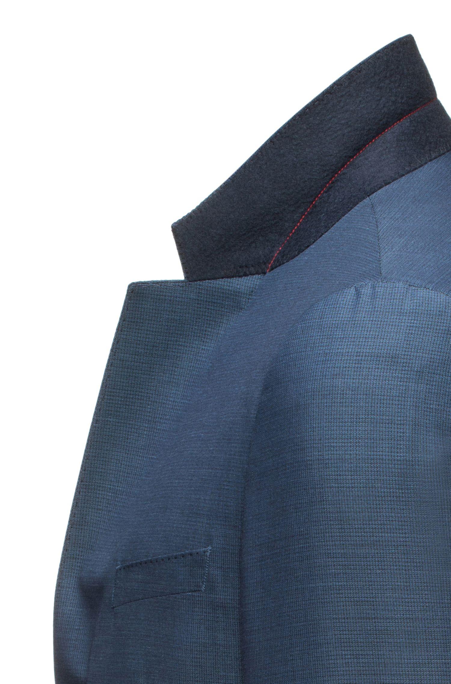 Costume Slim Fit en laine vierge à micro-motif