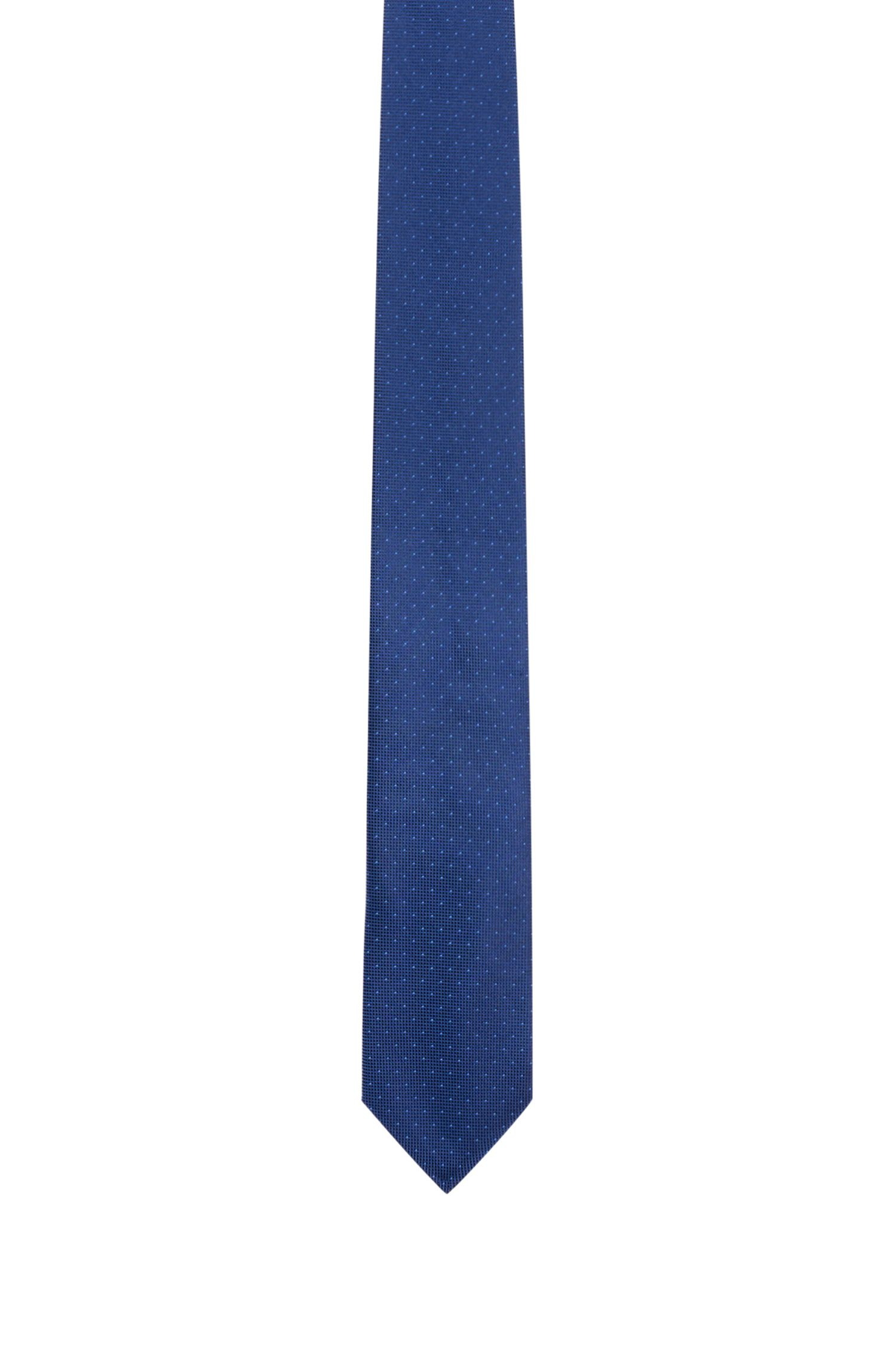 Cravate en pure soie à micro-pois
