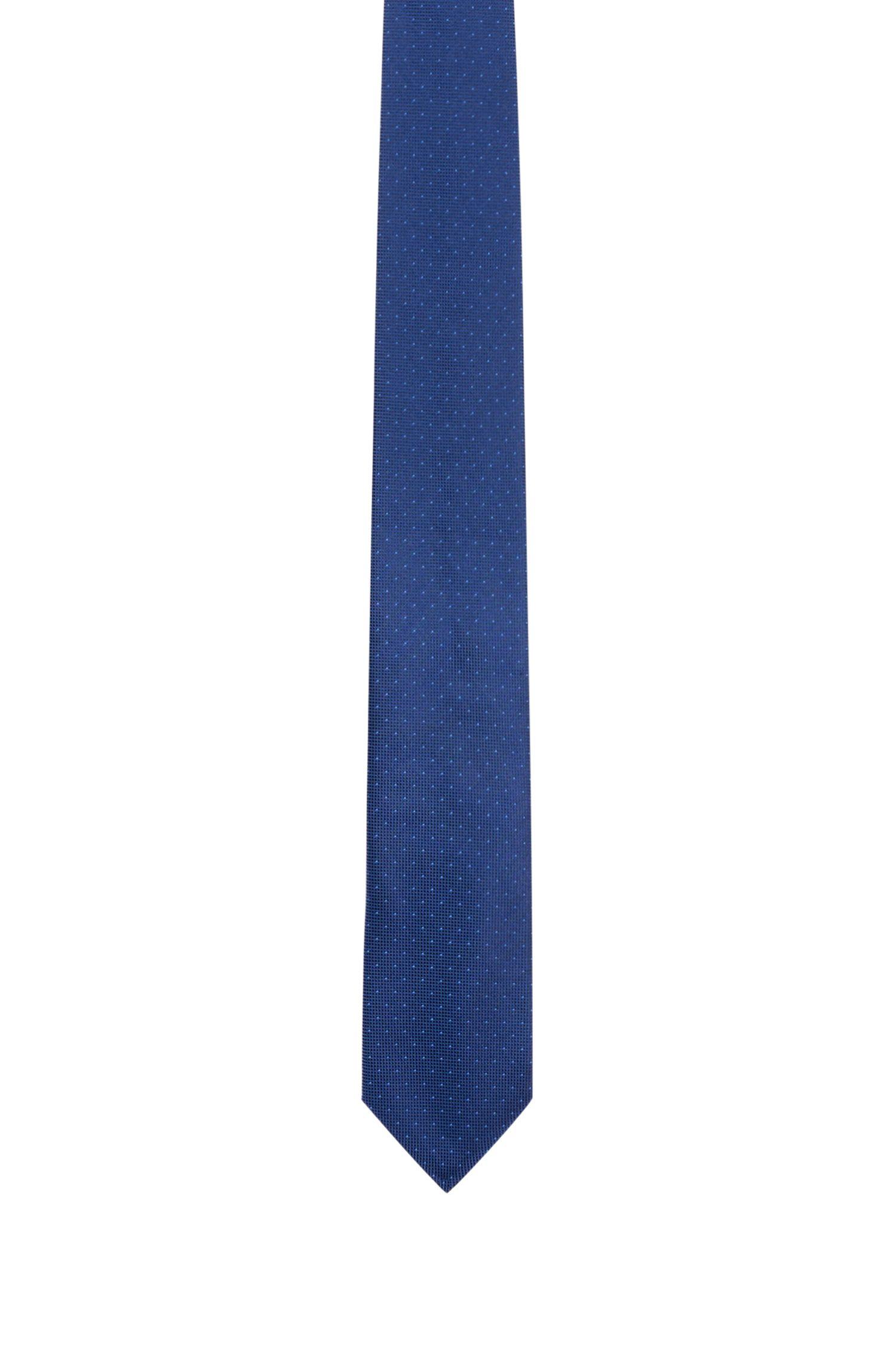 Cravatta con micropois in pura seta