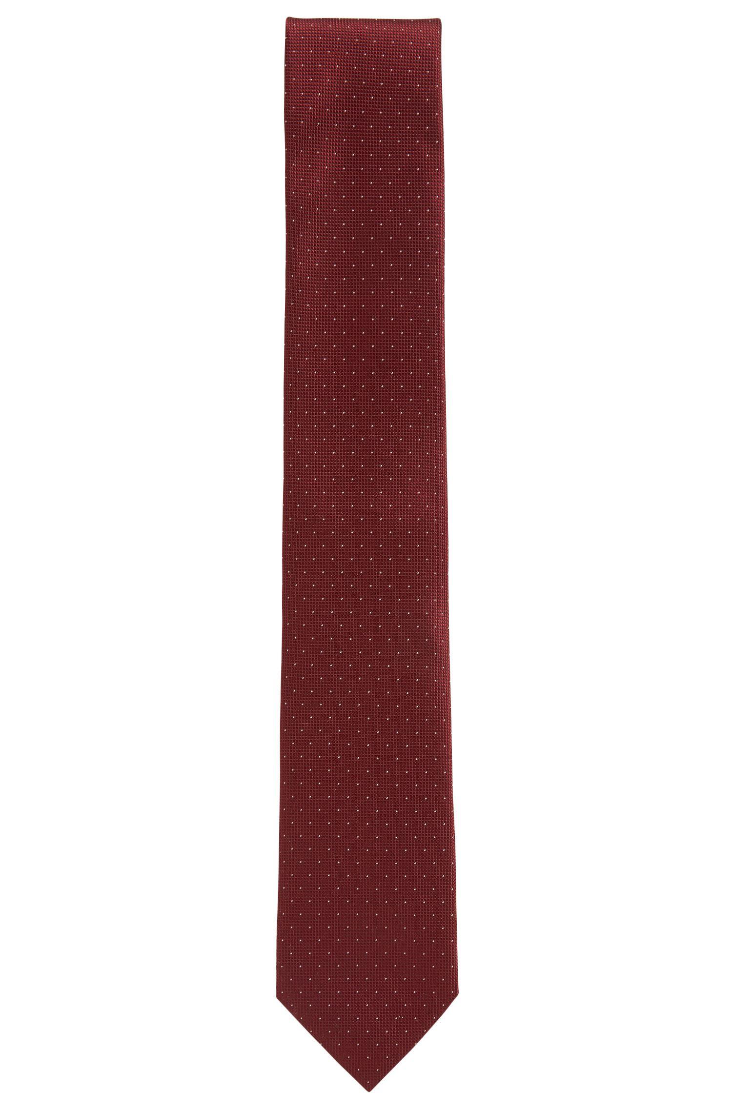 Fein gepunktete Krawatte aus reiner Seide