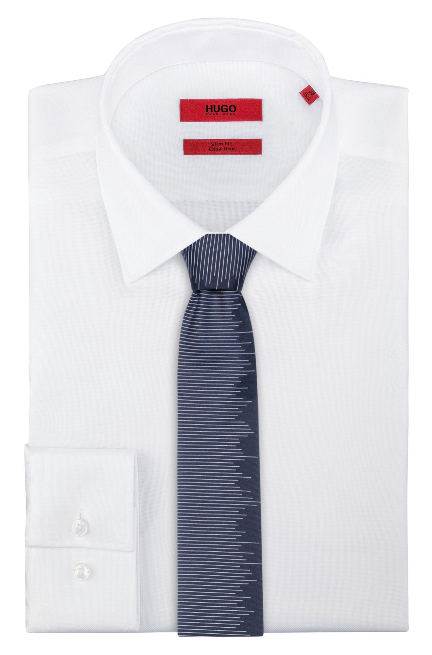 Pure-silk tie with abstact horizontal stripe