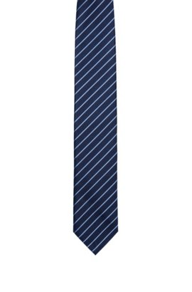 Navy silk tie with country flag detail BOSS kYzmLI