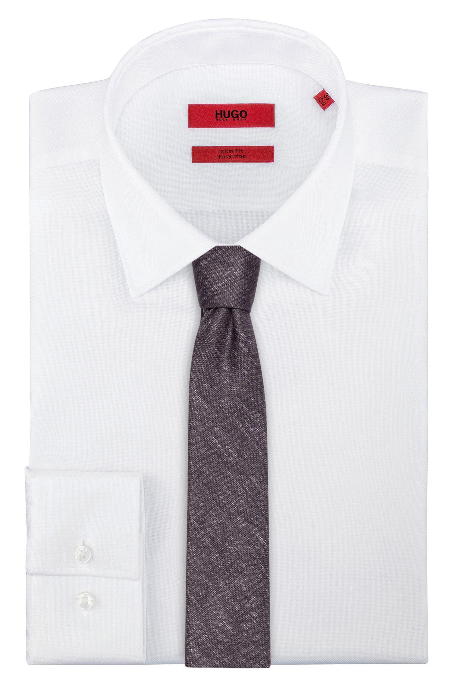 Cravate en pur coton chiné