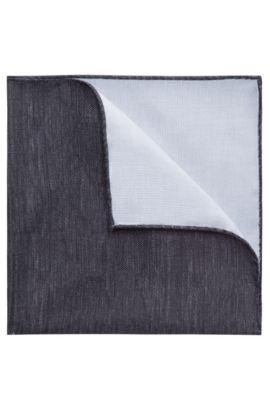 Pañuelo de bolsillo jaspeado en puro algodón, Negro