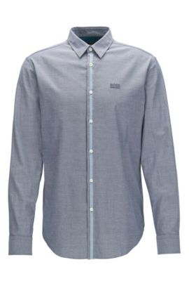Chemise Regular Fit en coton Oxford stretch, Bleu vif