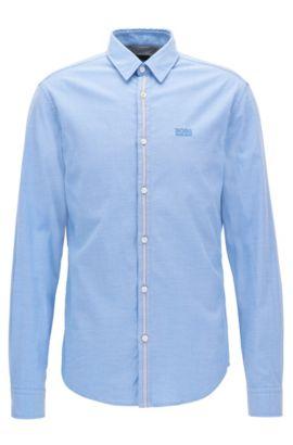 Chemise Regular Fit en coton Oxford stretch, Bleu vif