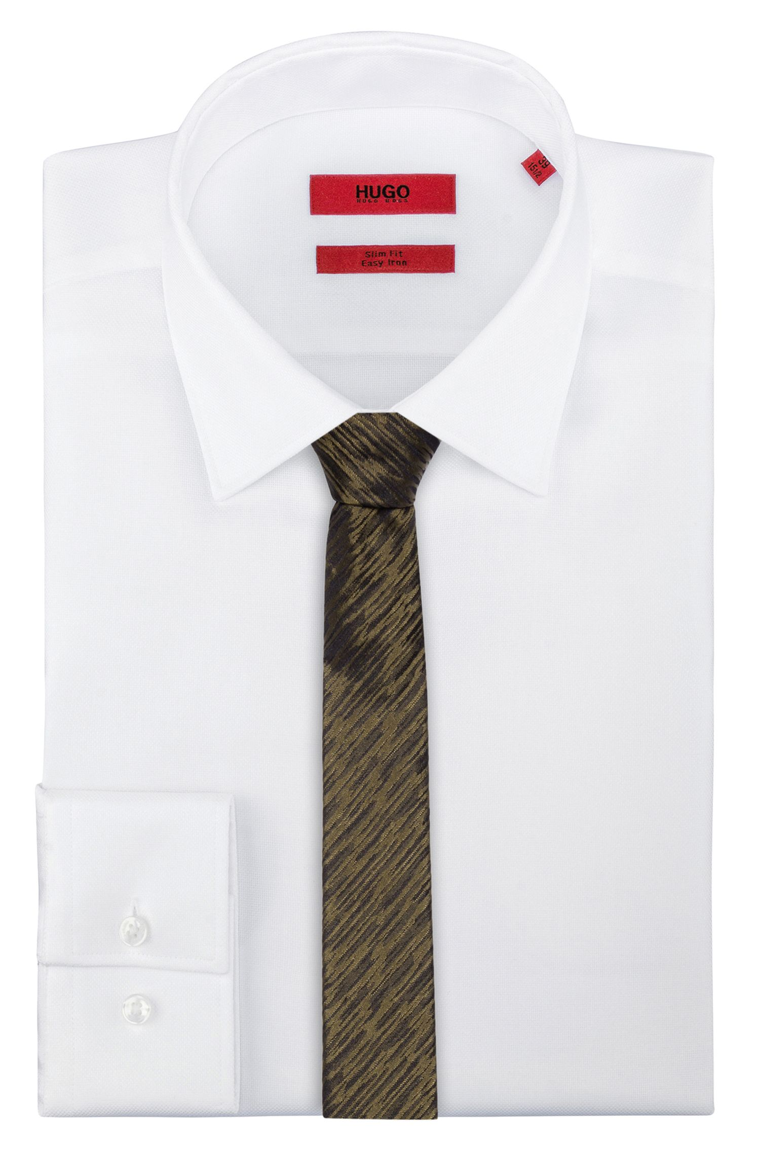 Abstract patterned tie in silk