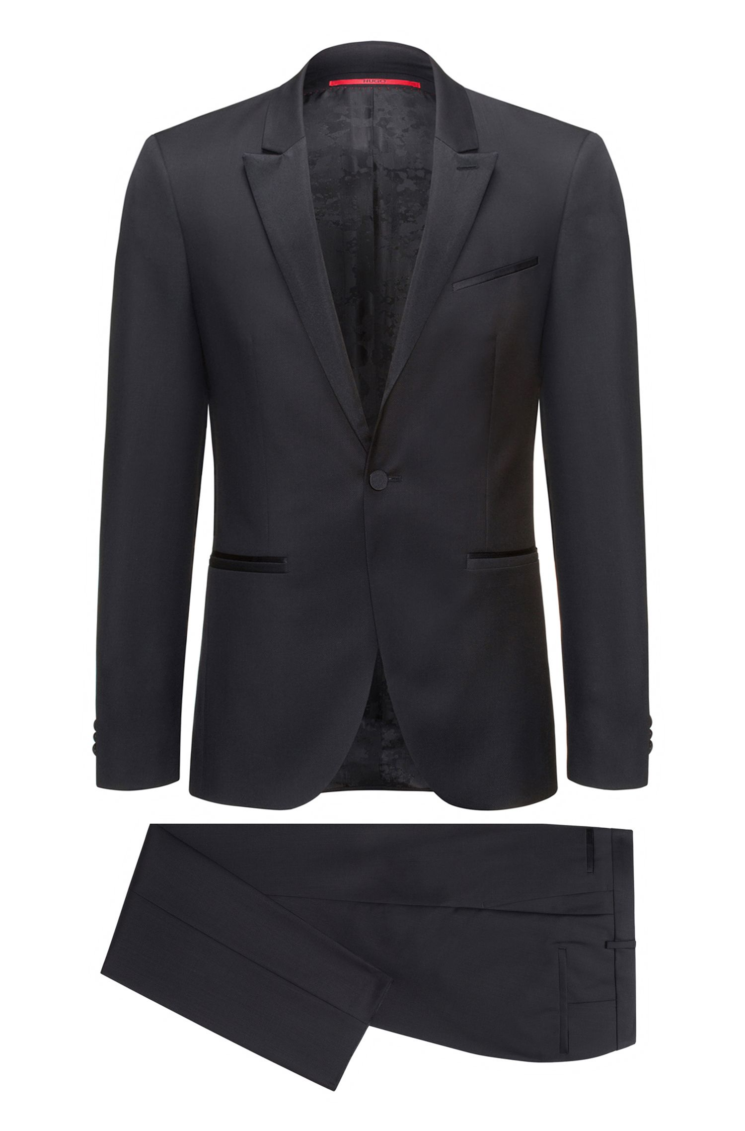 Extra-slim-fit tuxedo suit in virgin wool