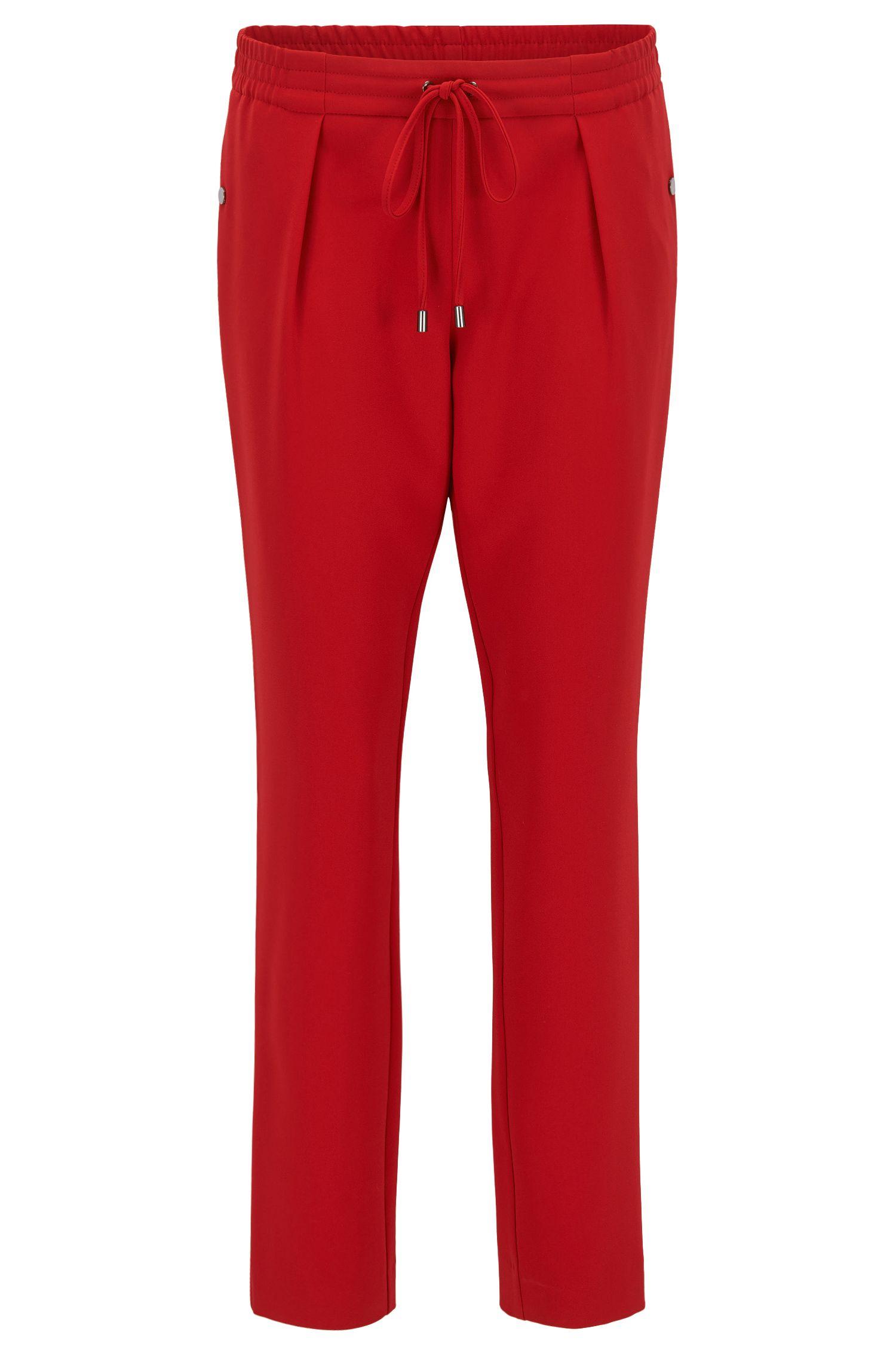 Pantalon Relaxed Fit fuselé, avec cordon de serrage