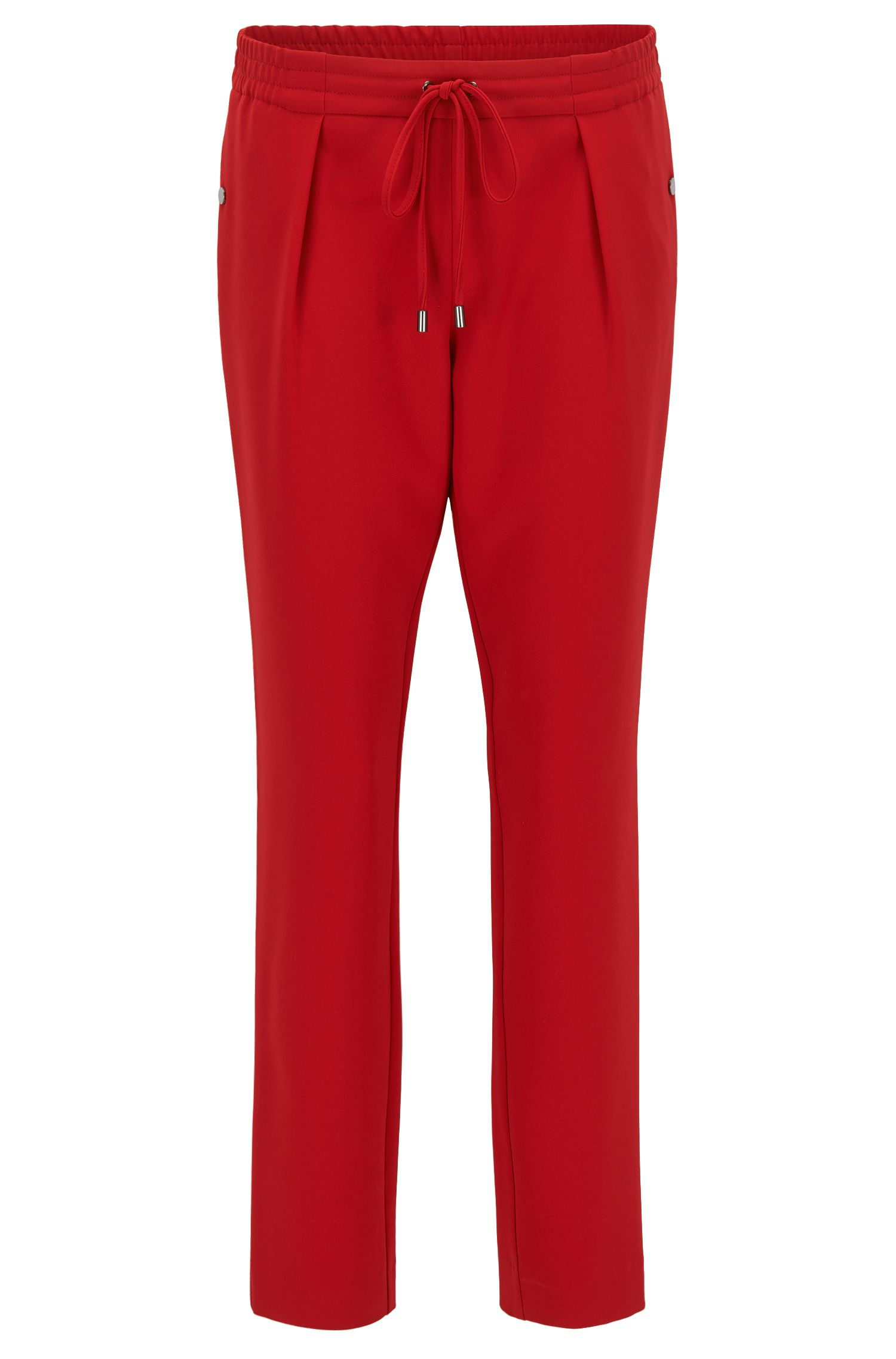 Relaxed-fit drawstring trousers with a tapered leg
