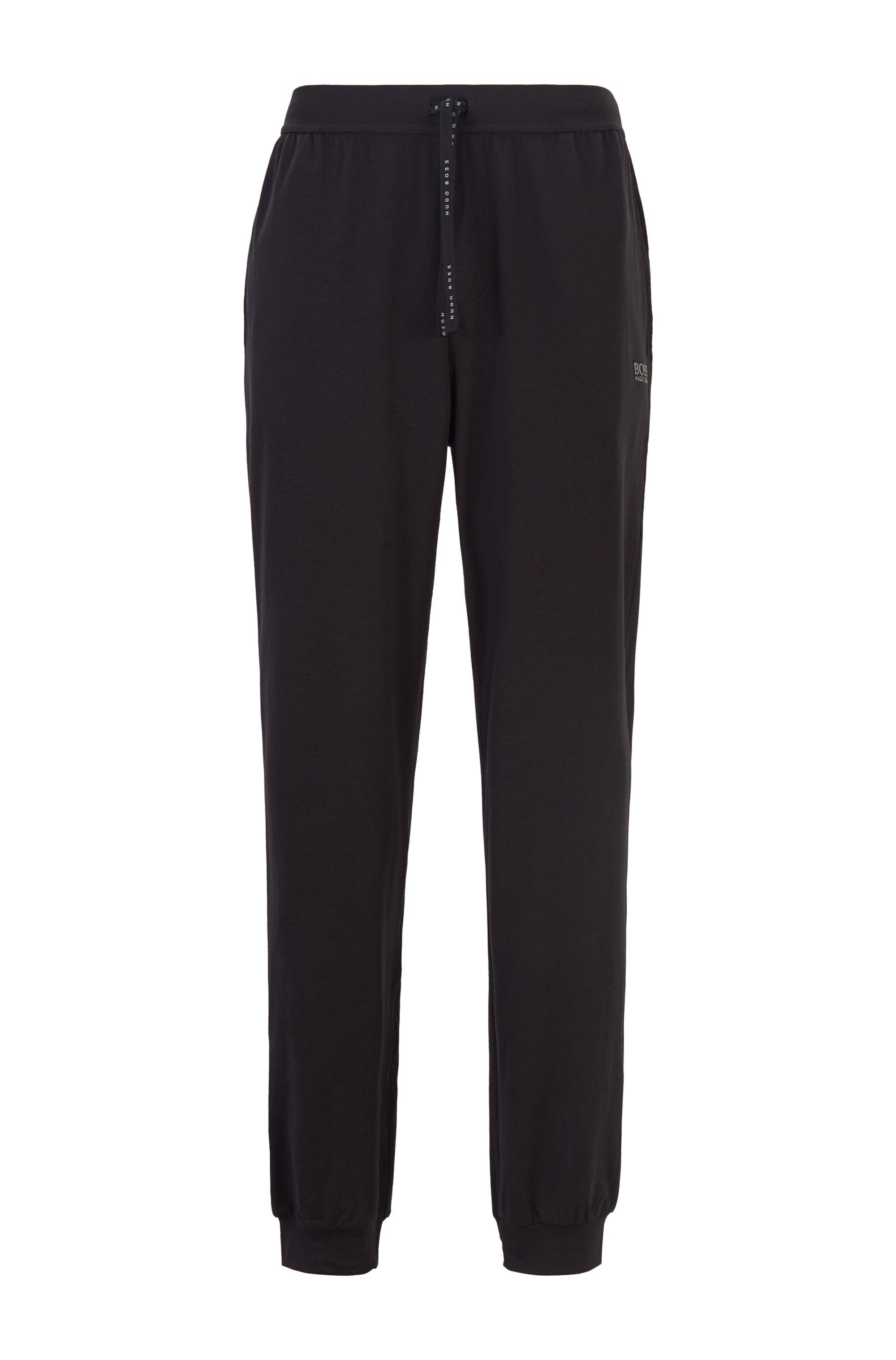 Pantalon d'intérieur à logo, en coton stretch, Noir