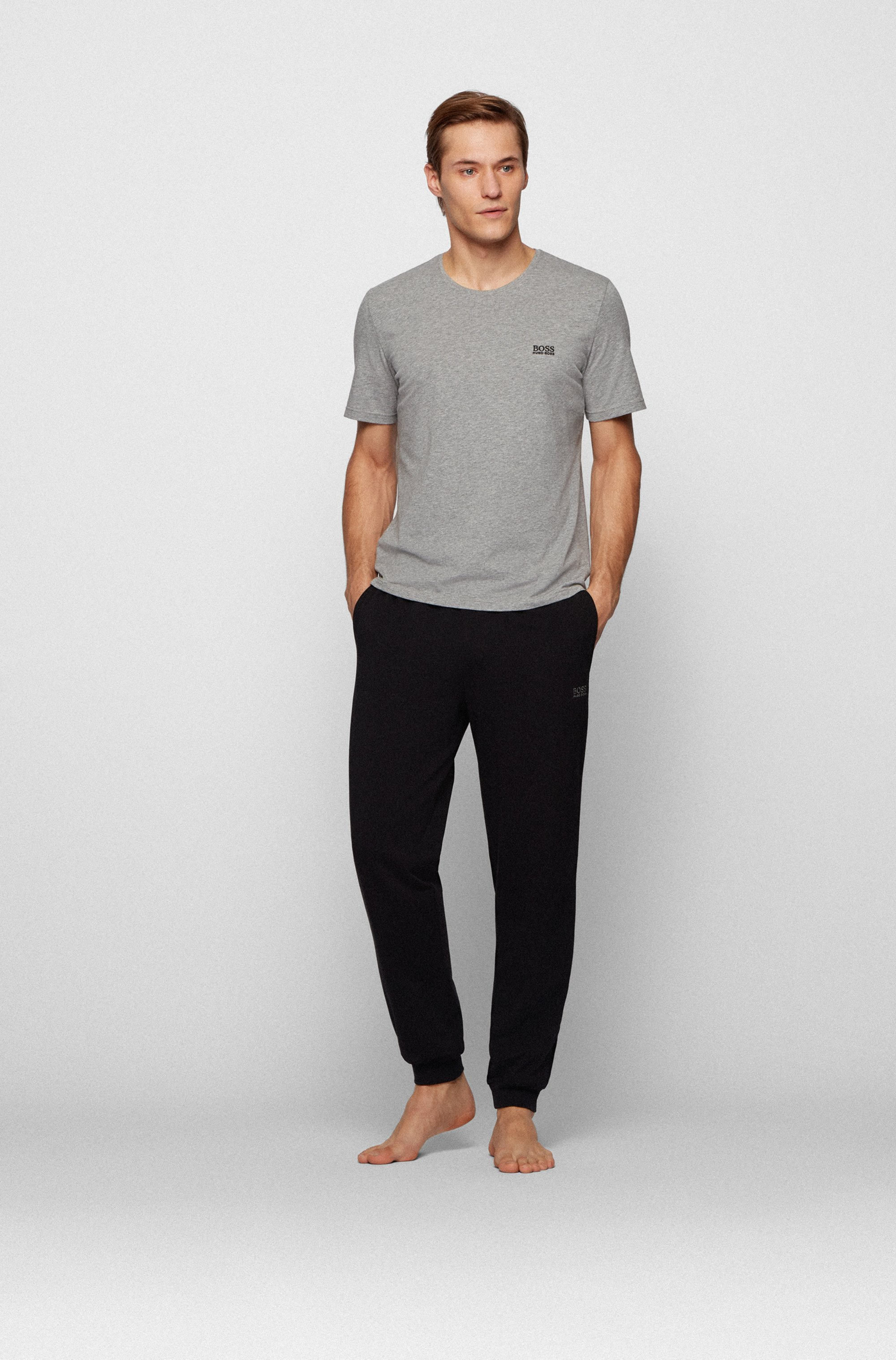 Logo loungewear trousers in stretch cotton