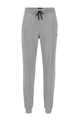 Logo loungewear trousers in stretch cotton, Grey