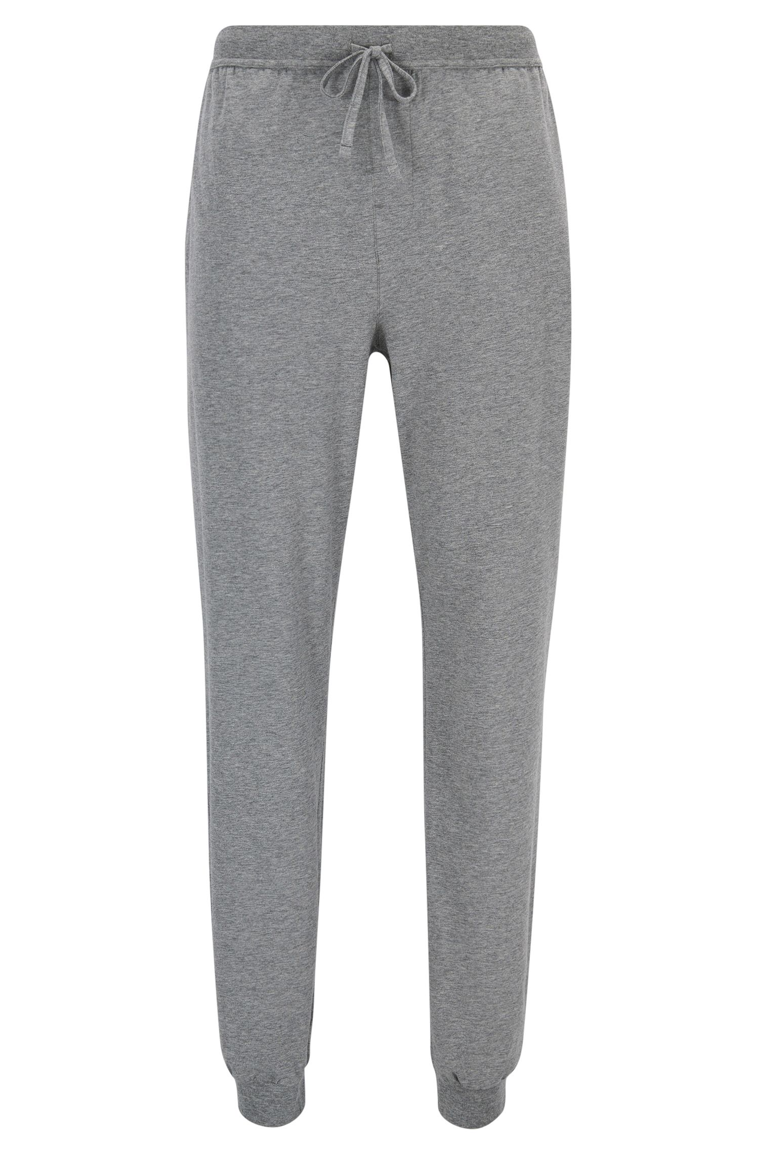 Cuffed loungewear bottoms in stretch cotton