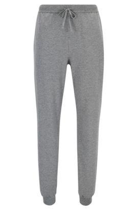 Pantalones loungewear con puños en algodón elástico, Gris