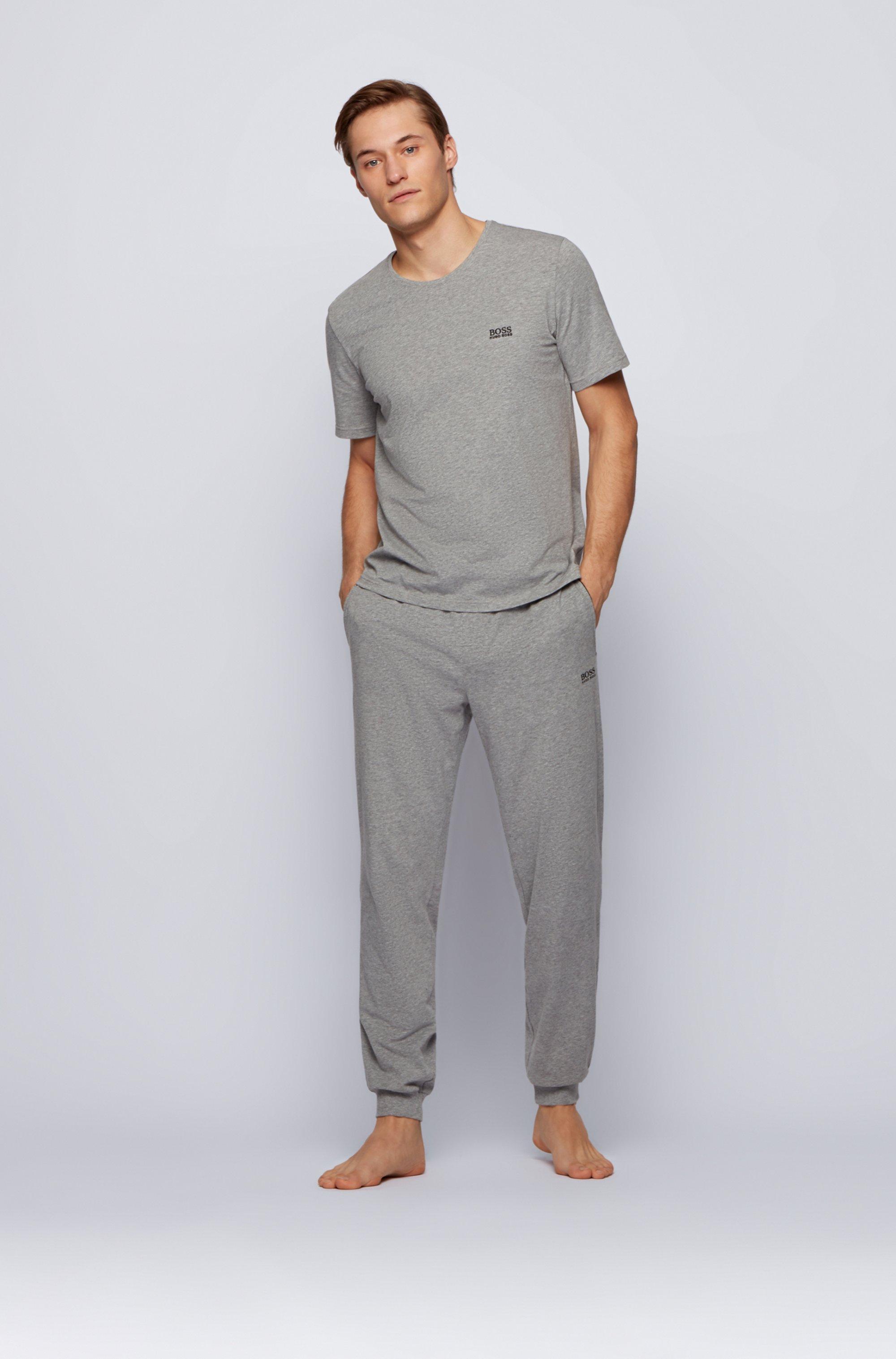 Logo loungewear trousers in stretch cotton