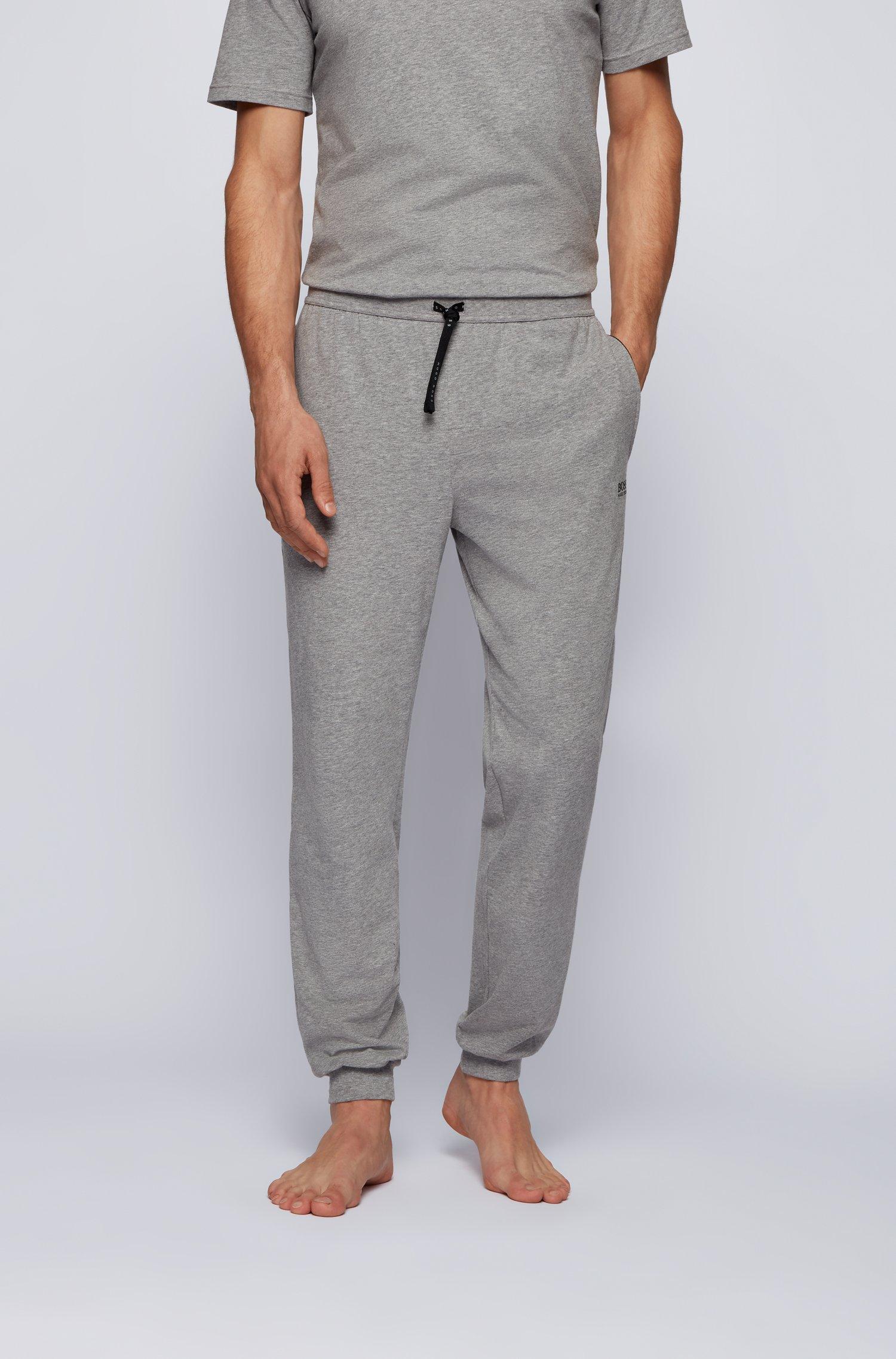 Pantalon d'intérieur à logo, en coton stretch, Gris