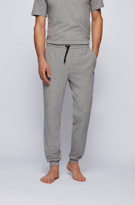 Logo loungewear trousers in stretch cotton, Grey