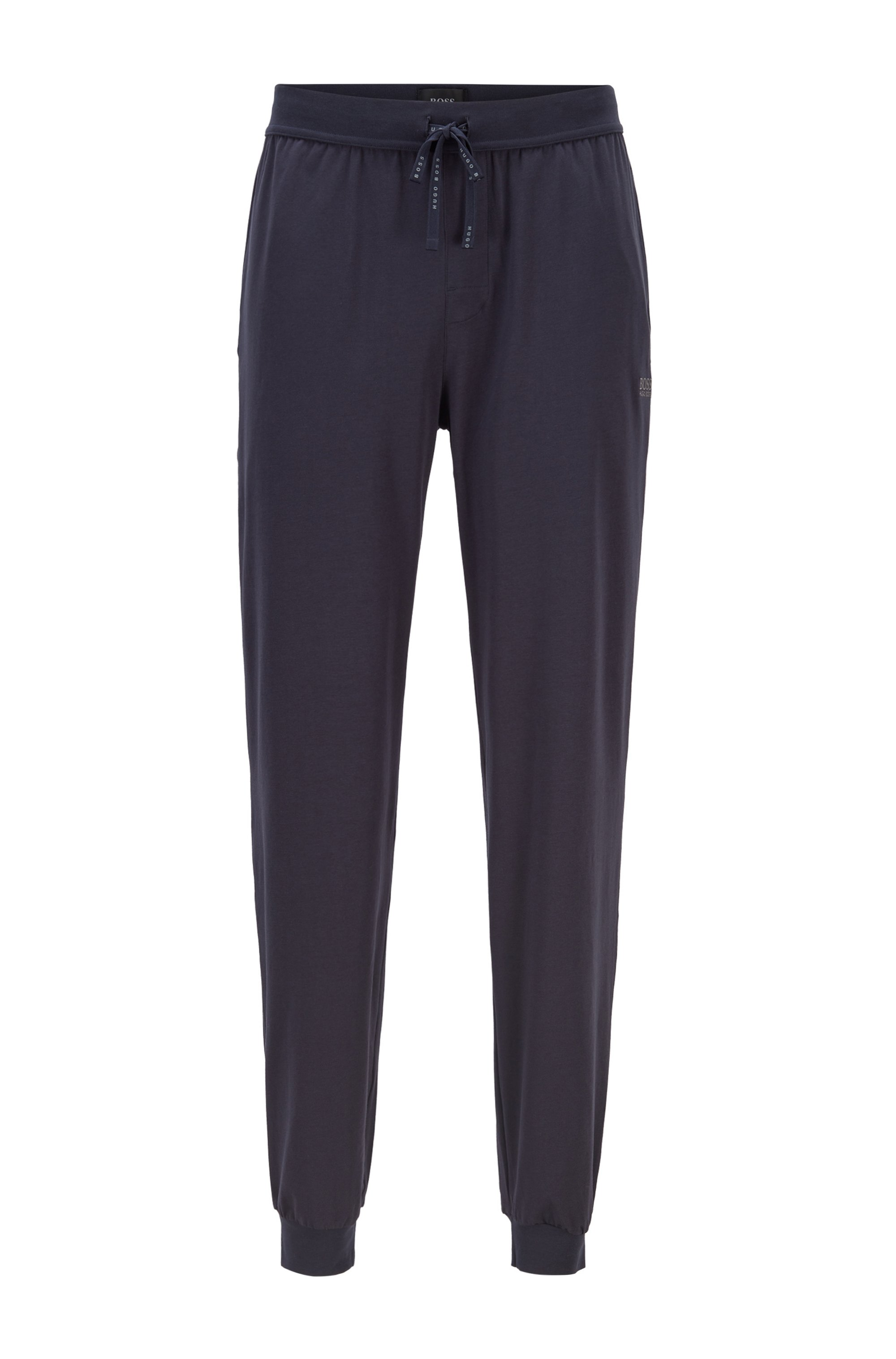 Logo loungewear trousers in stretch cotton, Dark Blue