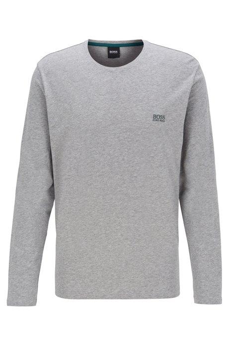 Maglia per il tempo libero regular fit in jersey di cotone elasticizzato, Grigio
